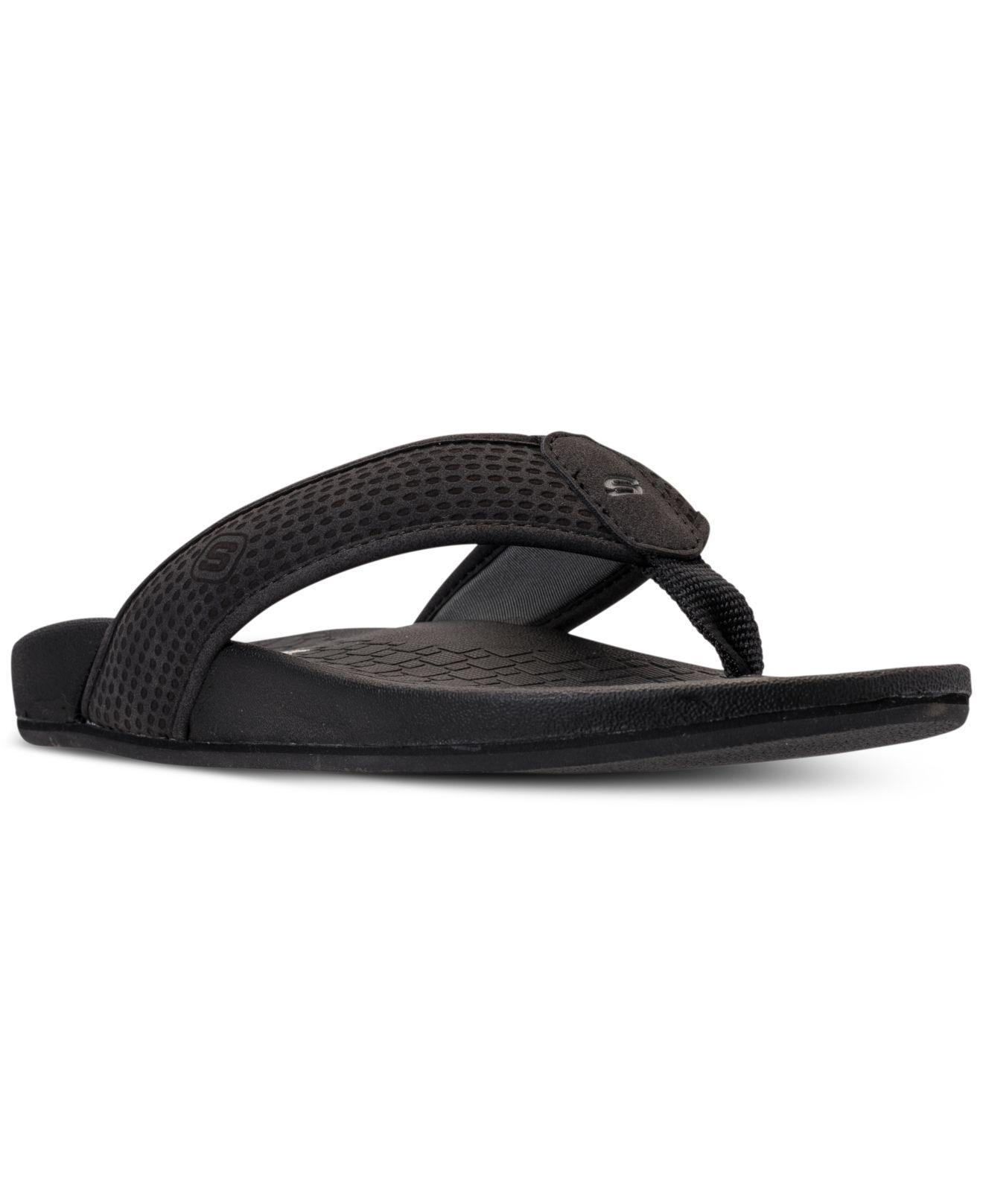 3bd3b502cbbd Lyst - Skechers Pelem Emiro Thong Sandals From Finish Line in Black ...