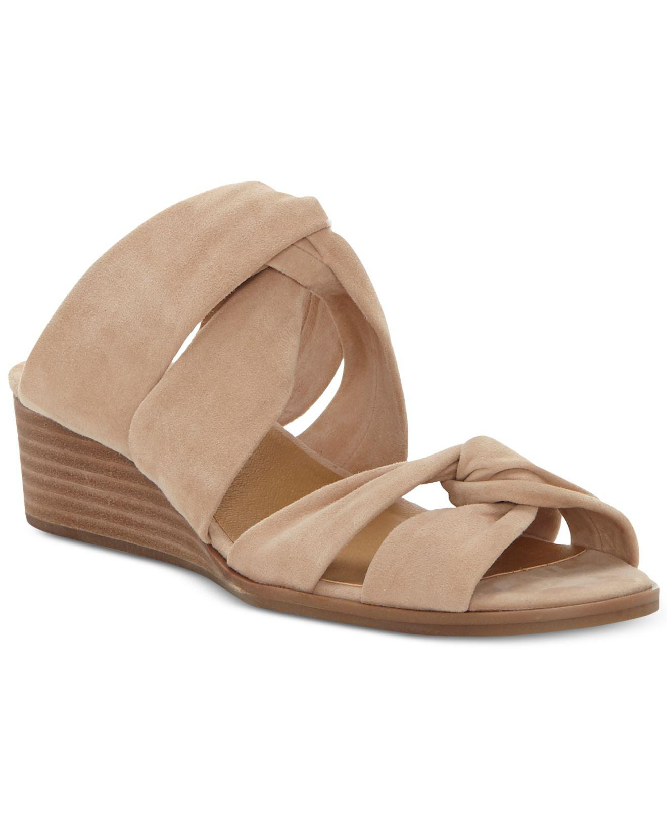 Lucky Brand Rhilley Suede Wedge Sandals