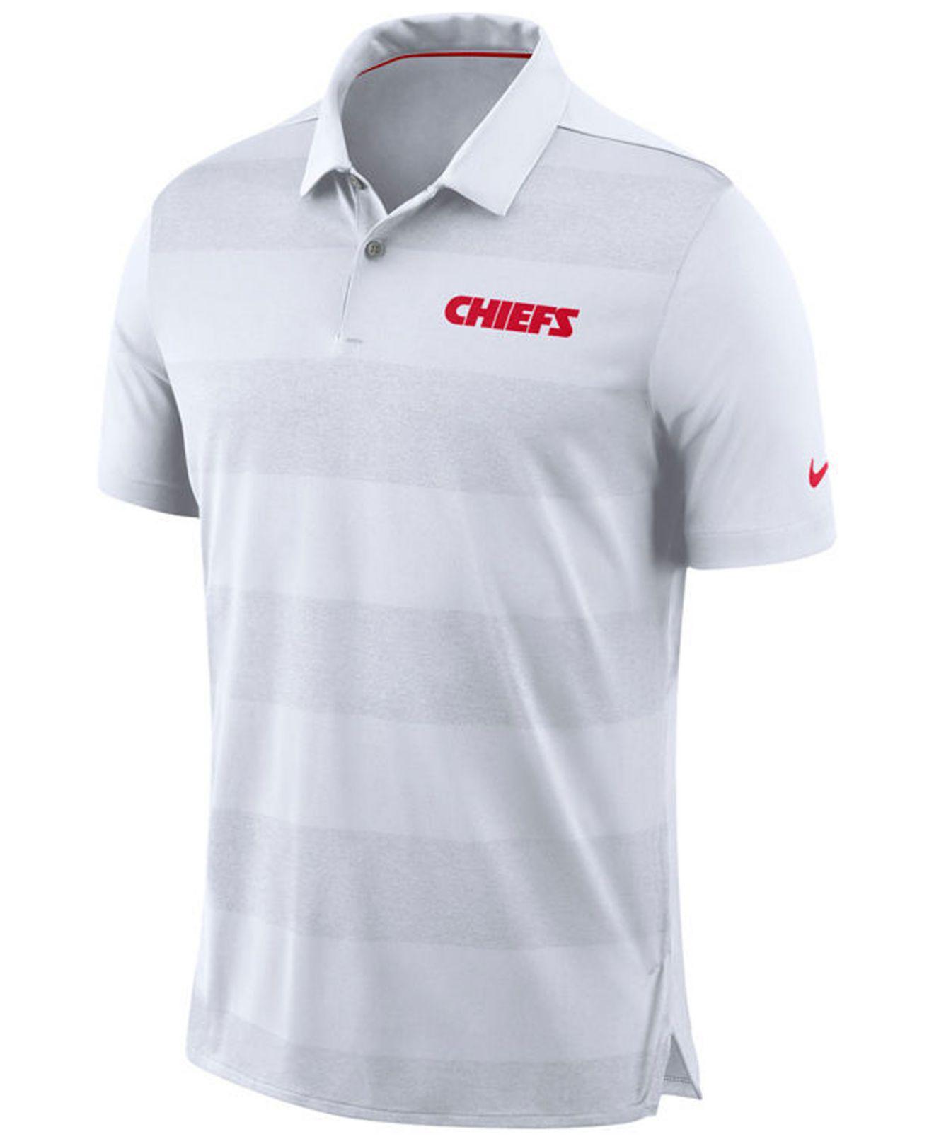 ac3bbae8b Nike Kansas City Chiefs Early Season Polo in White for Men - Lyst