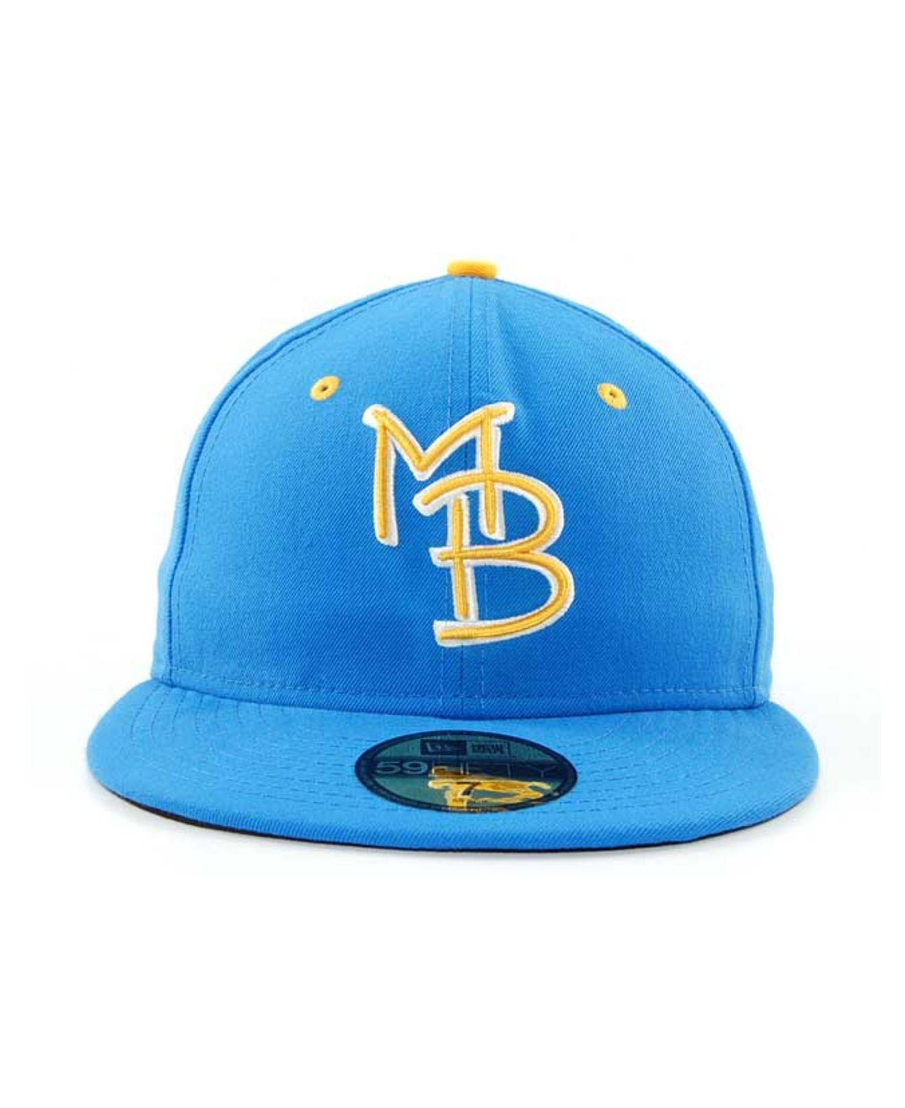 Ktz Myrtle Beach Pelicans Milb 59fifty Cap In Blue For Men