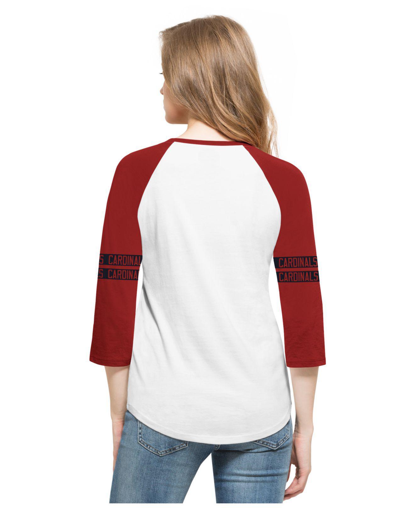 38fa138b381f5 Lyst - 47 Brand Women s Chicago Cubs Triple Crown Raglan T-shirt in Red