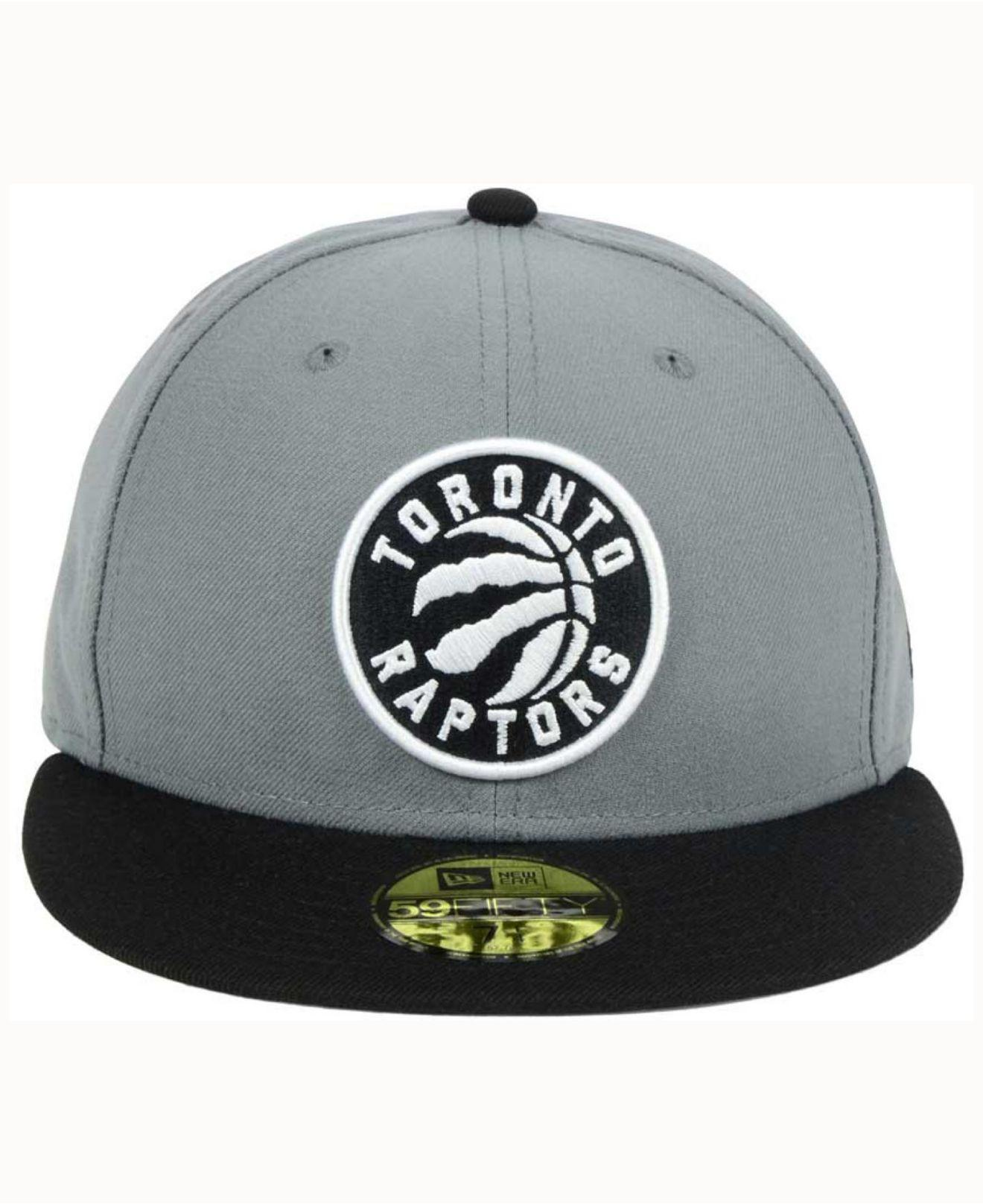 uk availability 95dd3 cce79 ... reduced lyst ktz toronto raptors 2 tone gray black 59fifty cap in black  for men 20881