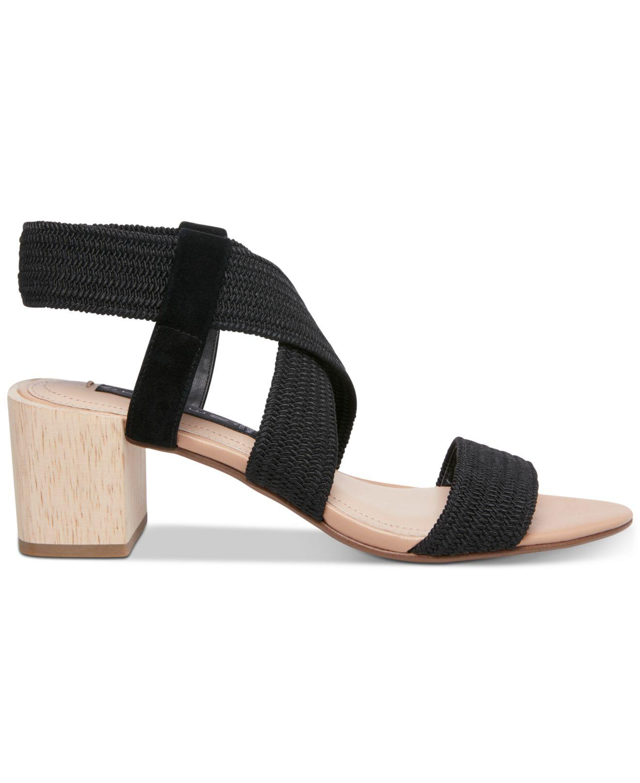 6ae7a3ef62a1 Lyst - Steven by Steve Madden Release Stretch City Sandals in Black