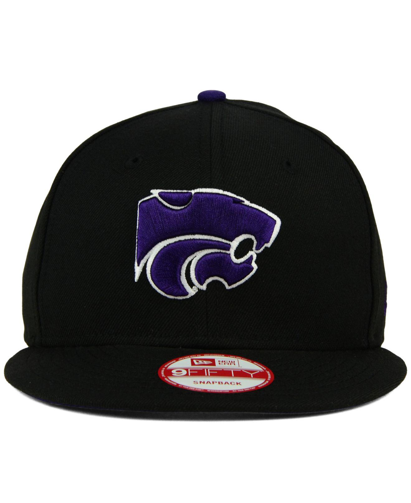 online store 2e8ac 9ef9f KTZ - Black Kansas State Wildcats Core 9fifty Snapback Cap for Men - Lyst.  View fullscreen