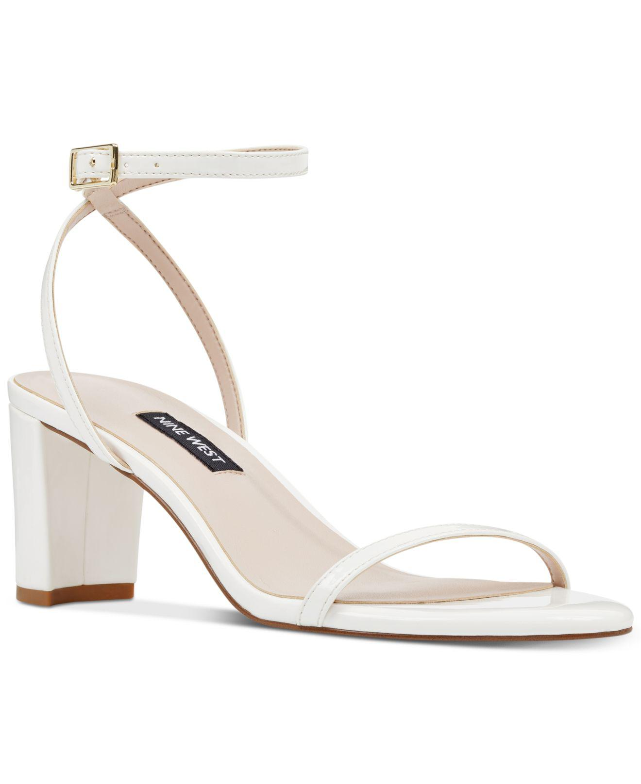 4d47c7992 Lyst - Nine West Provein Dress Sandals in White