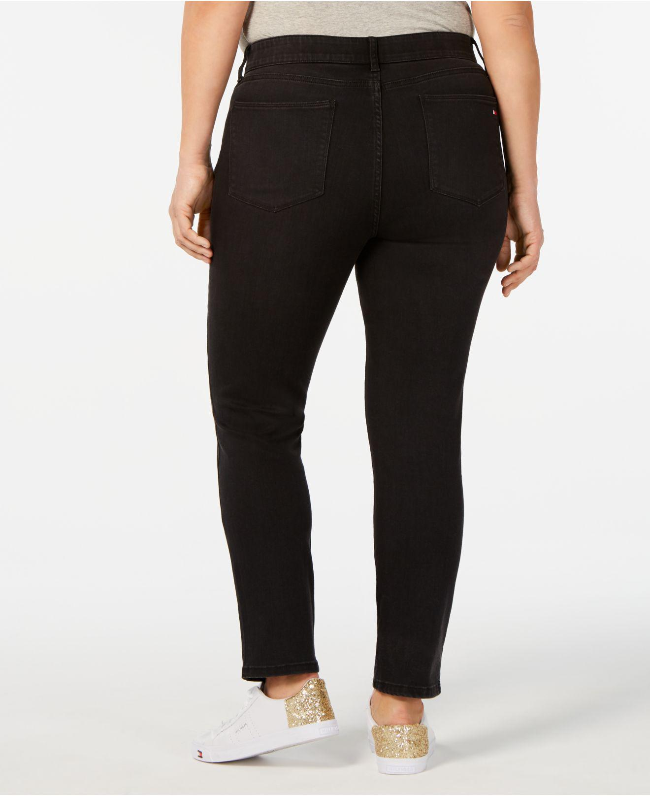 87424c29 Lyst - Tommy Hilfiger Plus Size Skinny Jeans, Created For Macy's in Black