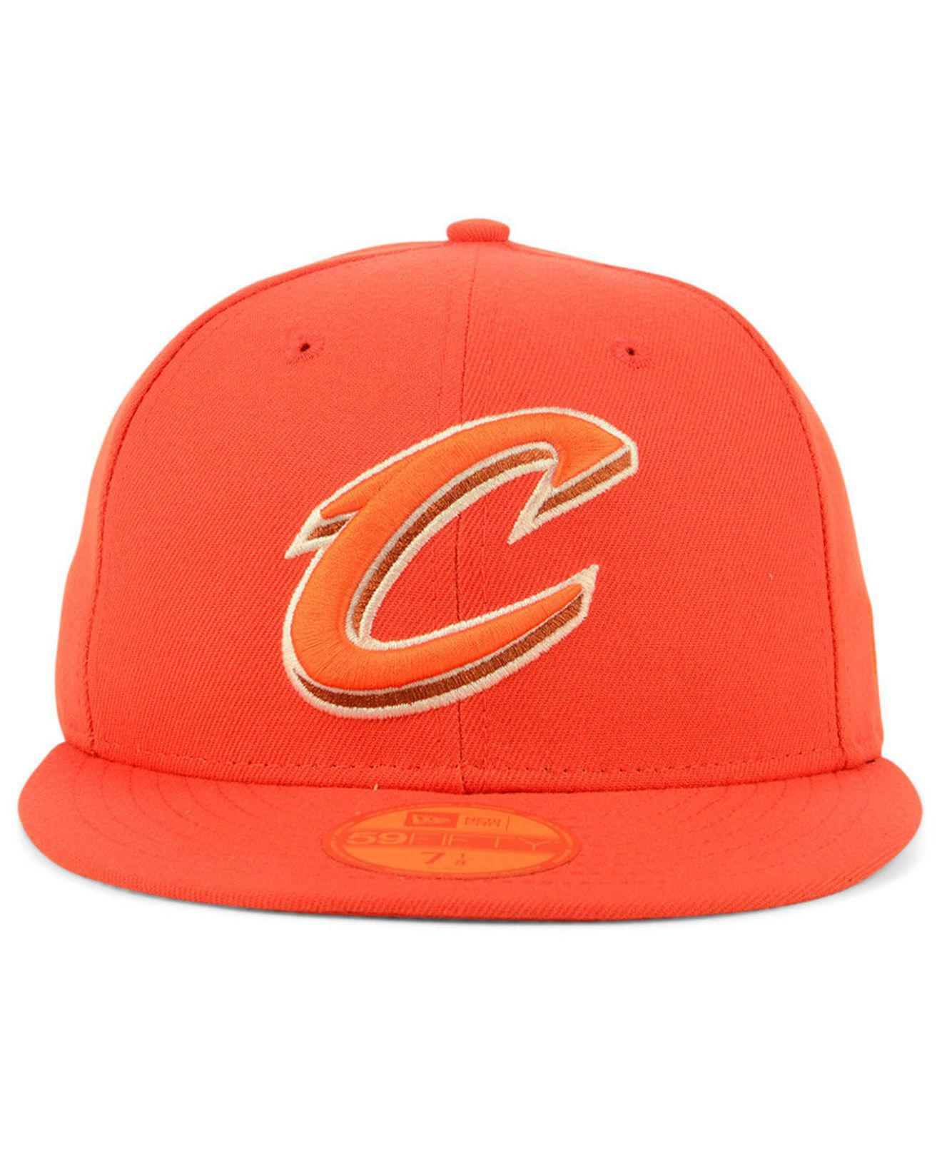 big sale f8d6e 23a59 Lyst - KTZ Cleveland Cavaliers Color Prism Pack 59fifty Fitted Cap in  Orange for Men