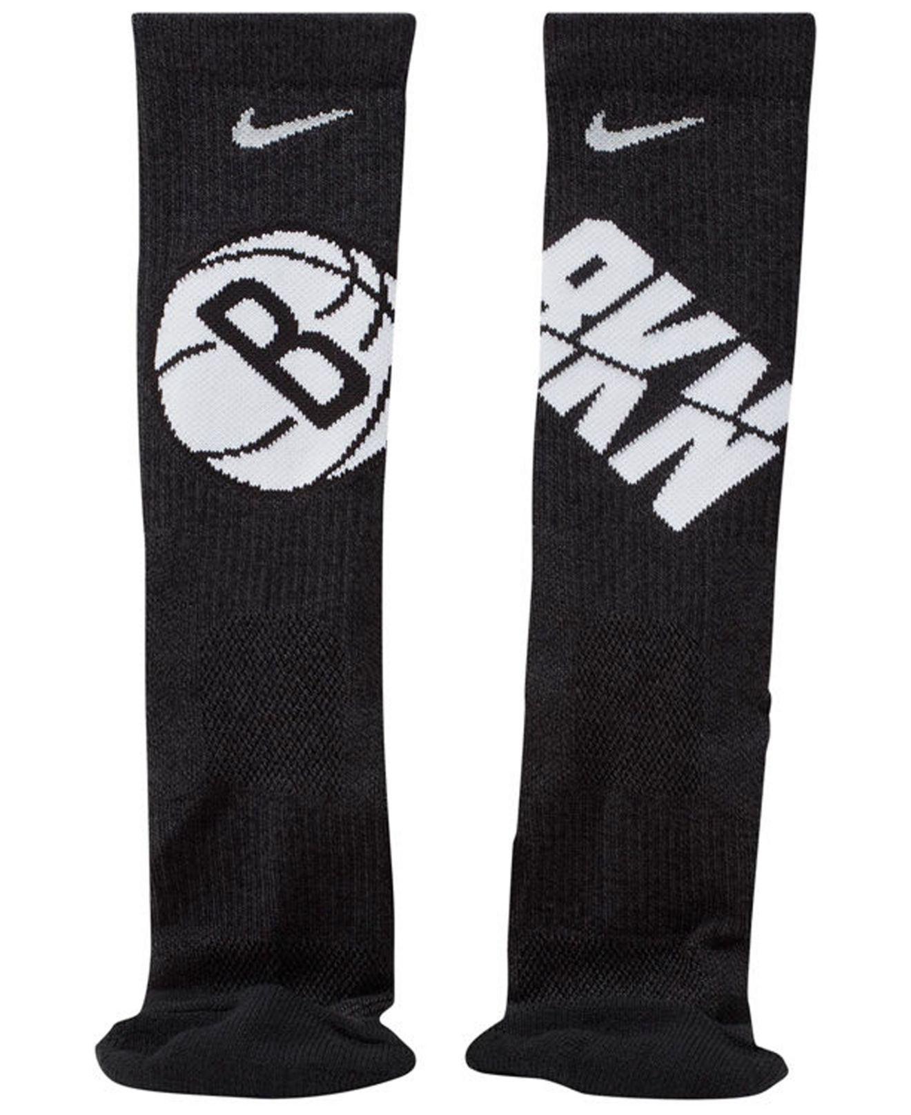 1cdff8448 Nike - Black Brooklyn Nets Elite Team Crew Socks for Men - Lyst. View  fullscreen