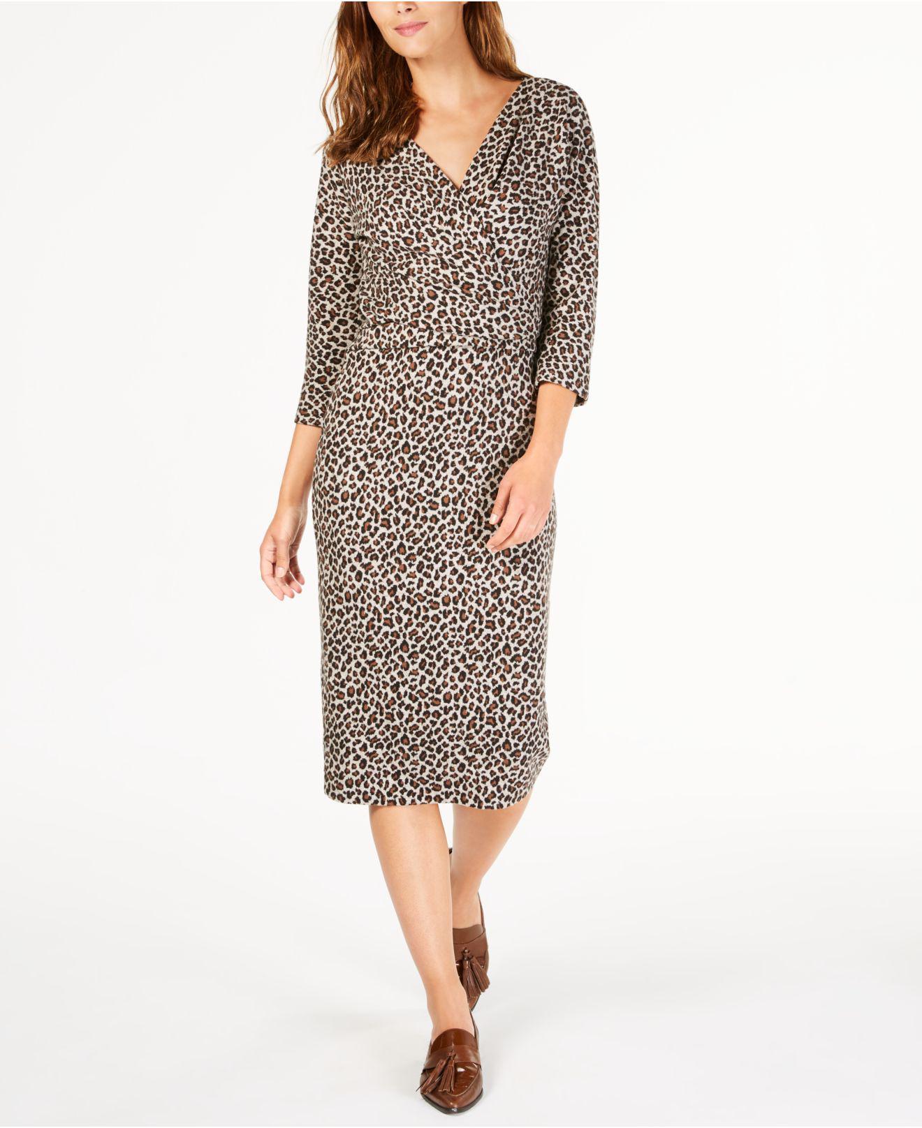 150c81a729d7d Lyst - Weekend by Maxmara Saggio Animal-print Dress in Brown