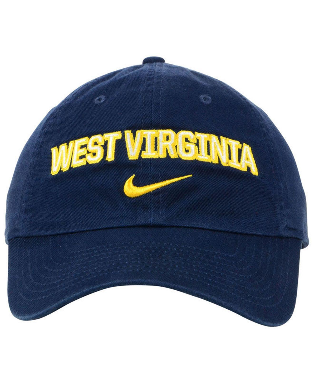 f54f443d7c3 Lyst - Nike West Virginia Mountaineers H86 Wordmark Swoosh Cap in Blue for  Men