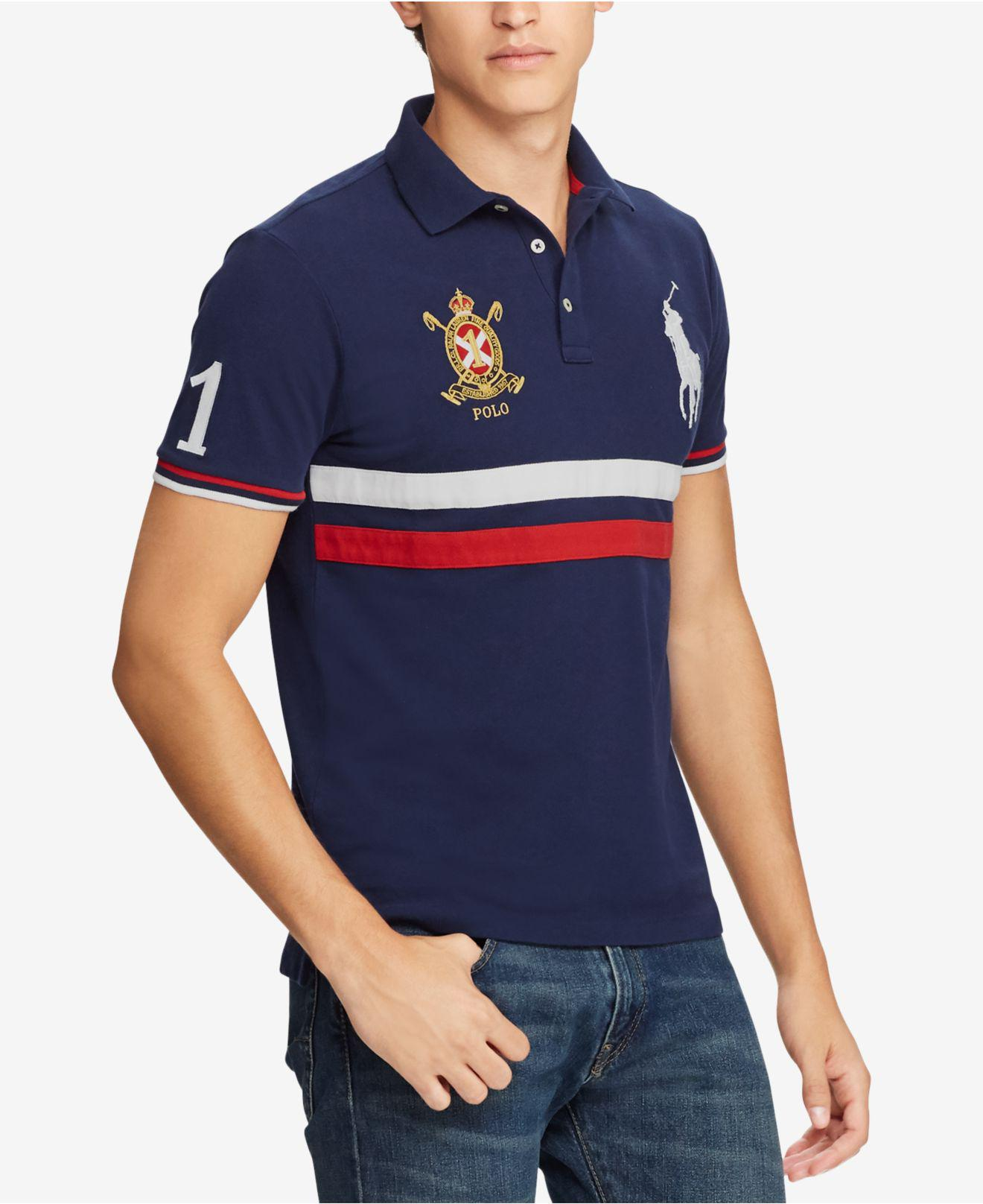 9f595e7c Lyst - Polo Ralph Lauren Slim Fit Mesh Polo, Created For Macy's in ...