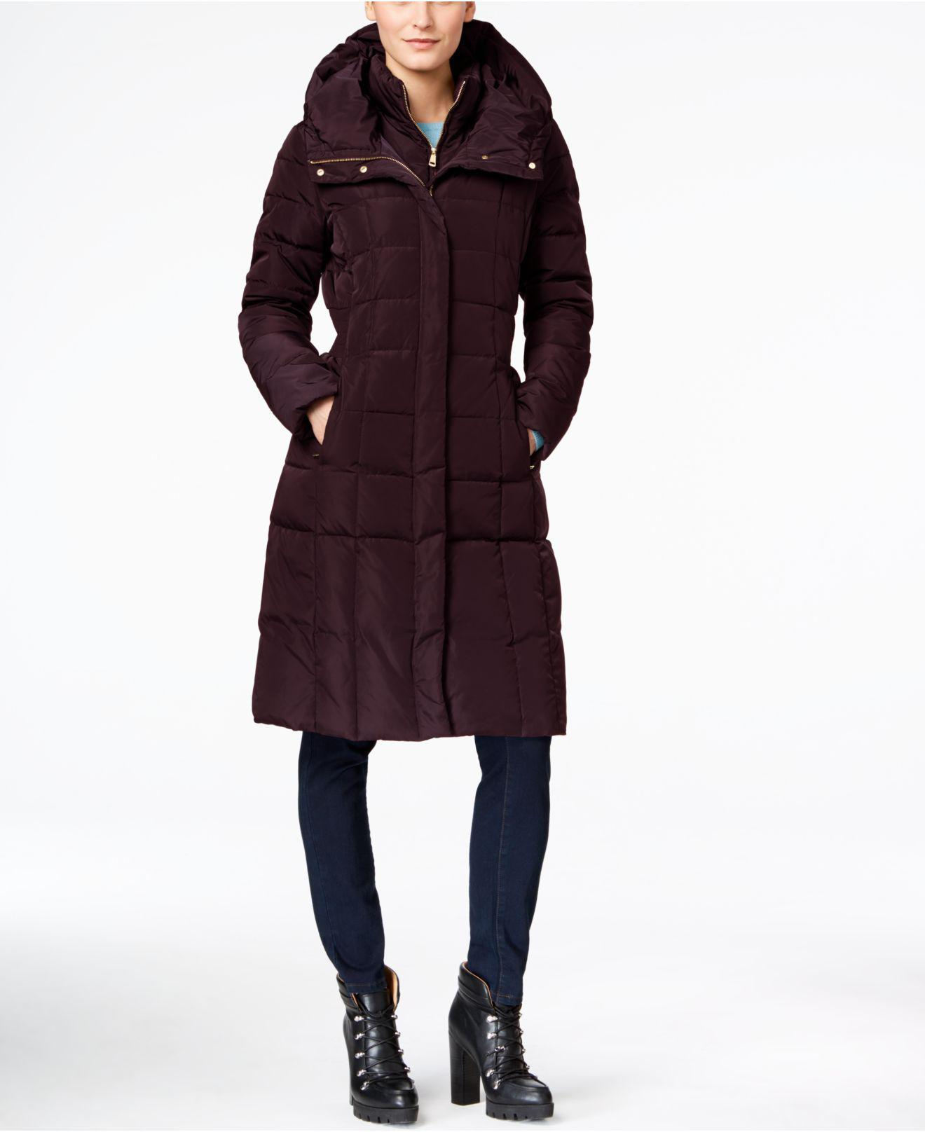 c9e9bf1c802 Lyst - Cole Haan Layered Maxi Puffer Coat in Purple - Save 9%