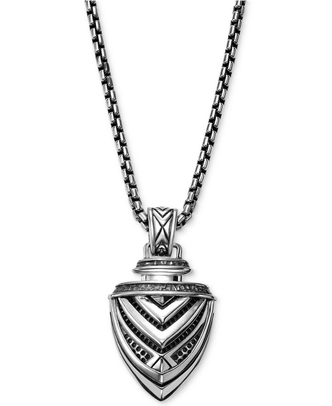 aeeca1593 Scott Kay Men's Arrow Pendant Necklace In Sterling Silver in ...