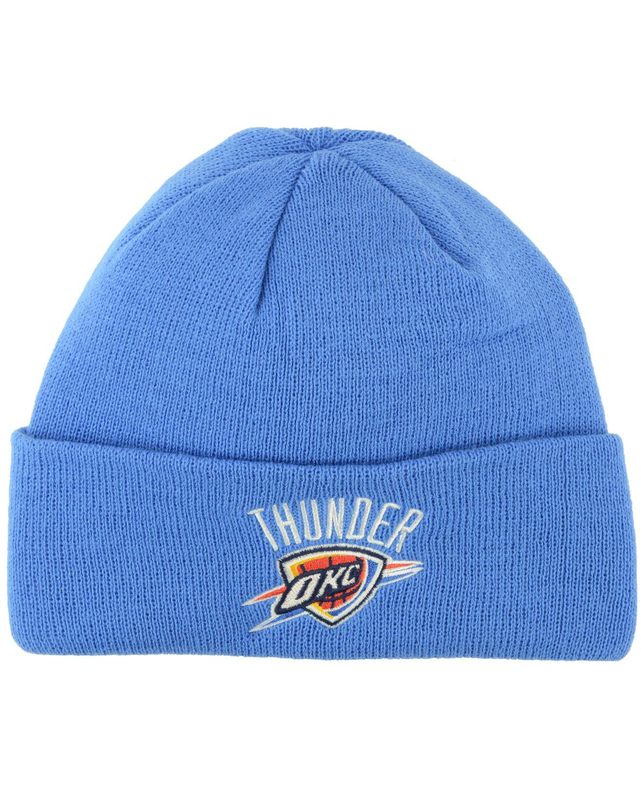 85bf217036c Lyst - Adidas Oklahoma City Thunder Cuff Knit Hat in Blue for Men