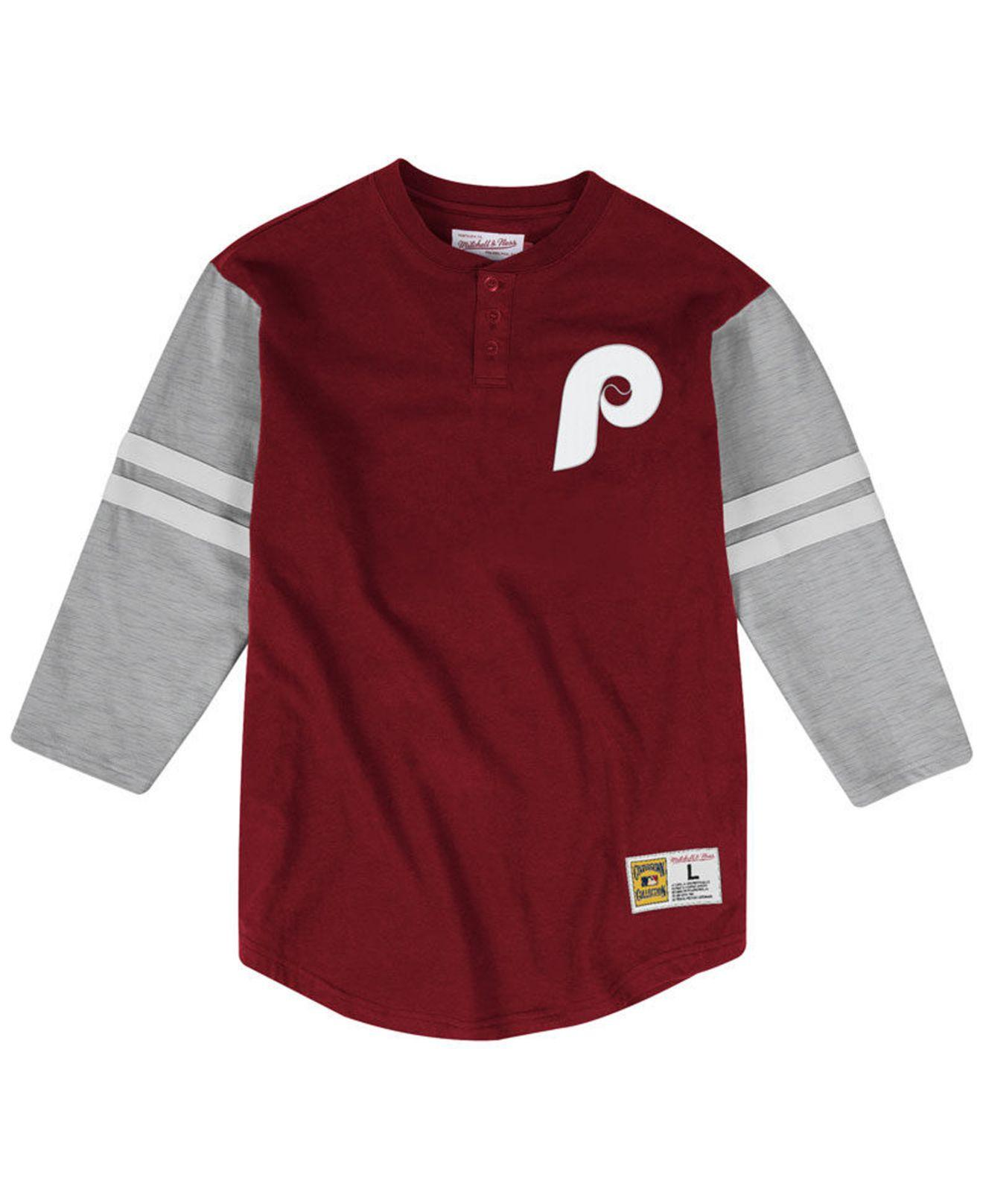 low priced a733d 75408 Lyst - Mitchell & Ness Philadelphia Phillies Heyday Henley T ...