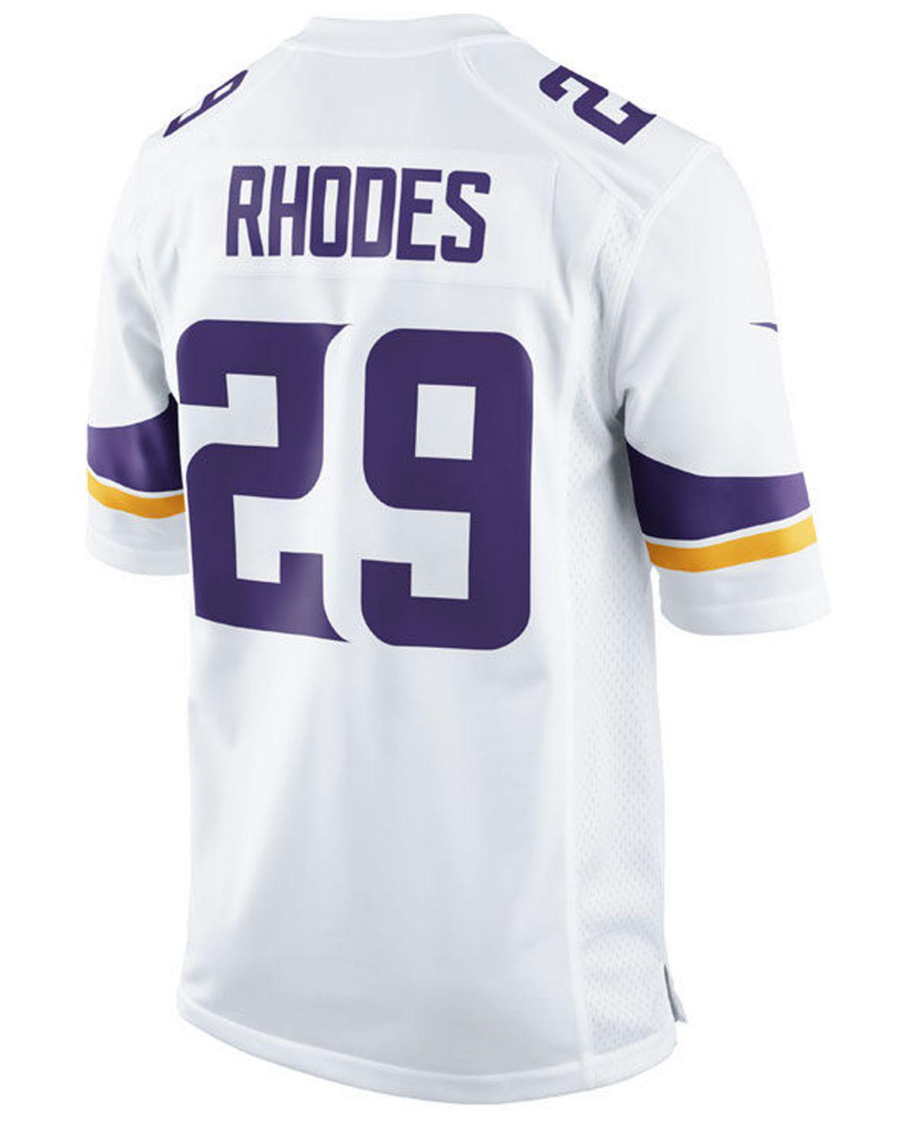 bde3647aa Lyst - Nike Xavier Rhodes Minnesota Vikings Game Jersey in White for Men