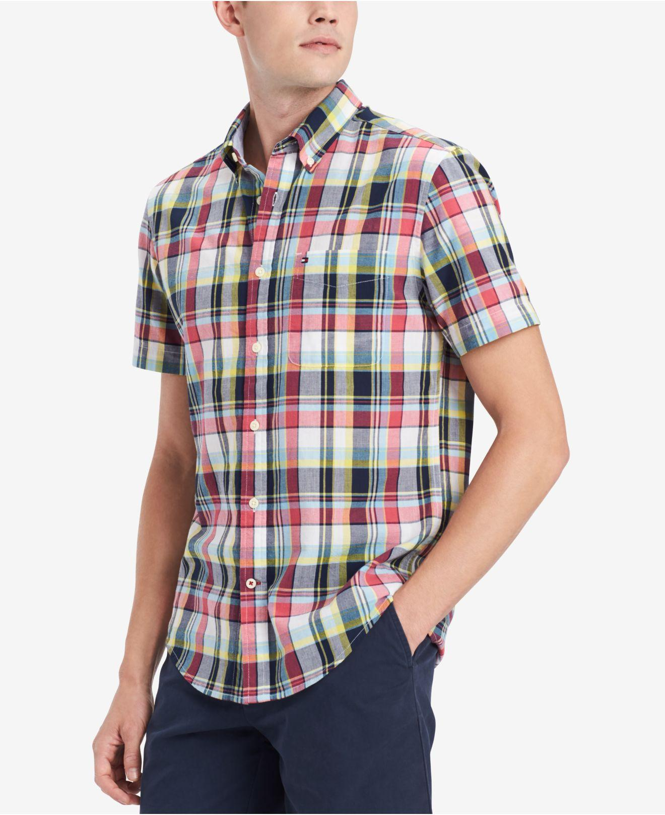 d1a51cbb Lyst - Tommy Hilfiger Alex Plaid Shirt, Created For Macy's for Men