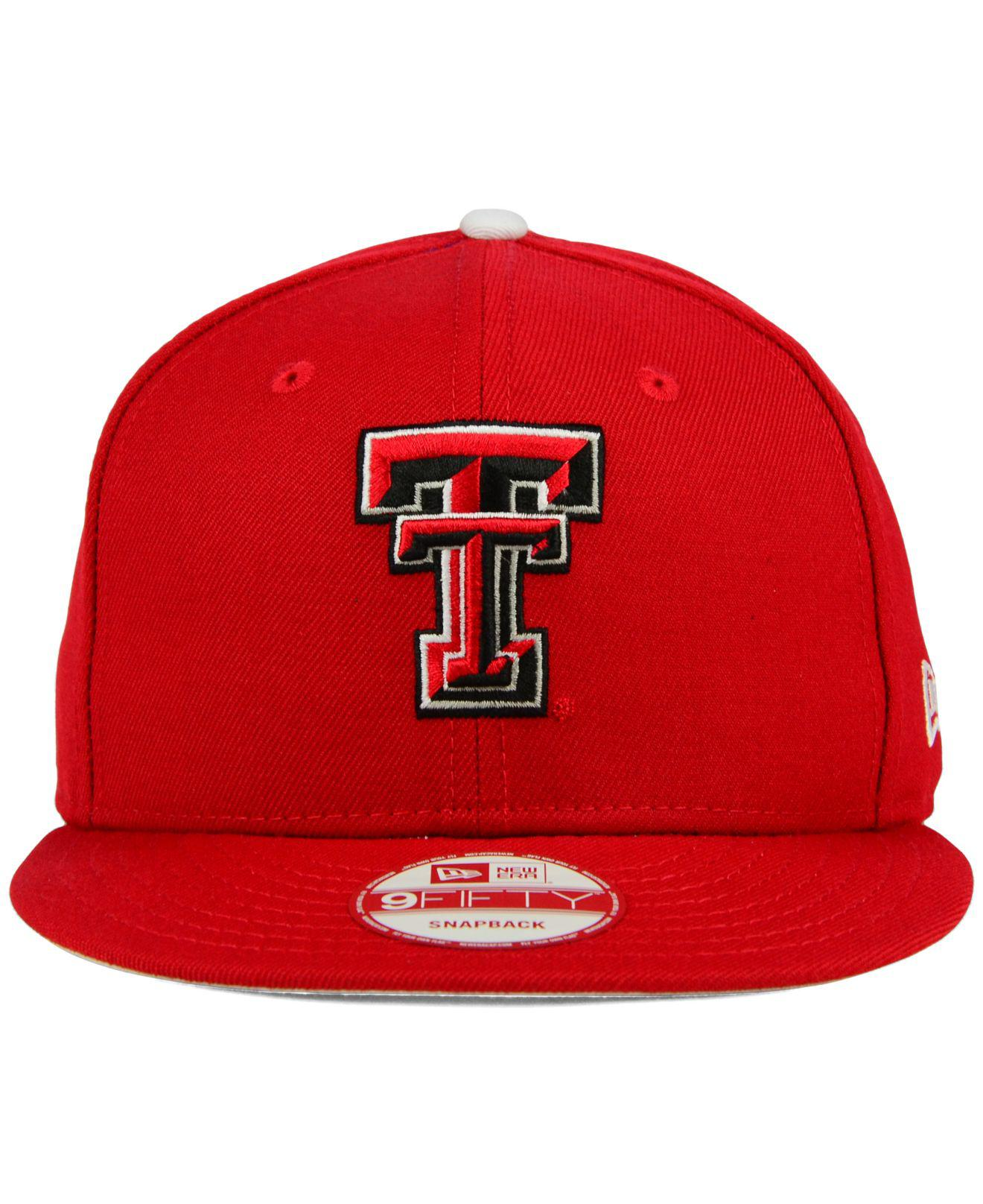 402ff8ead3f Lyst - KTZ Texas Tech Red Raiders Core 9fifty Snapback Cap in Red for Men