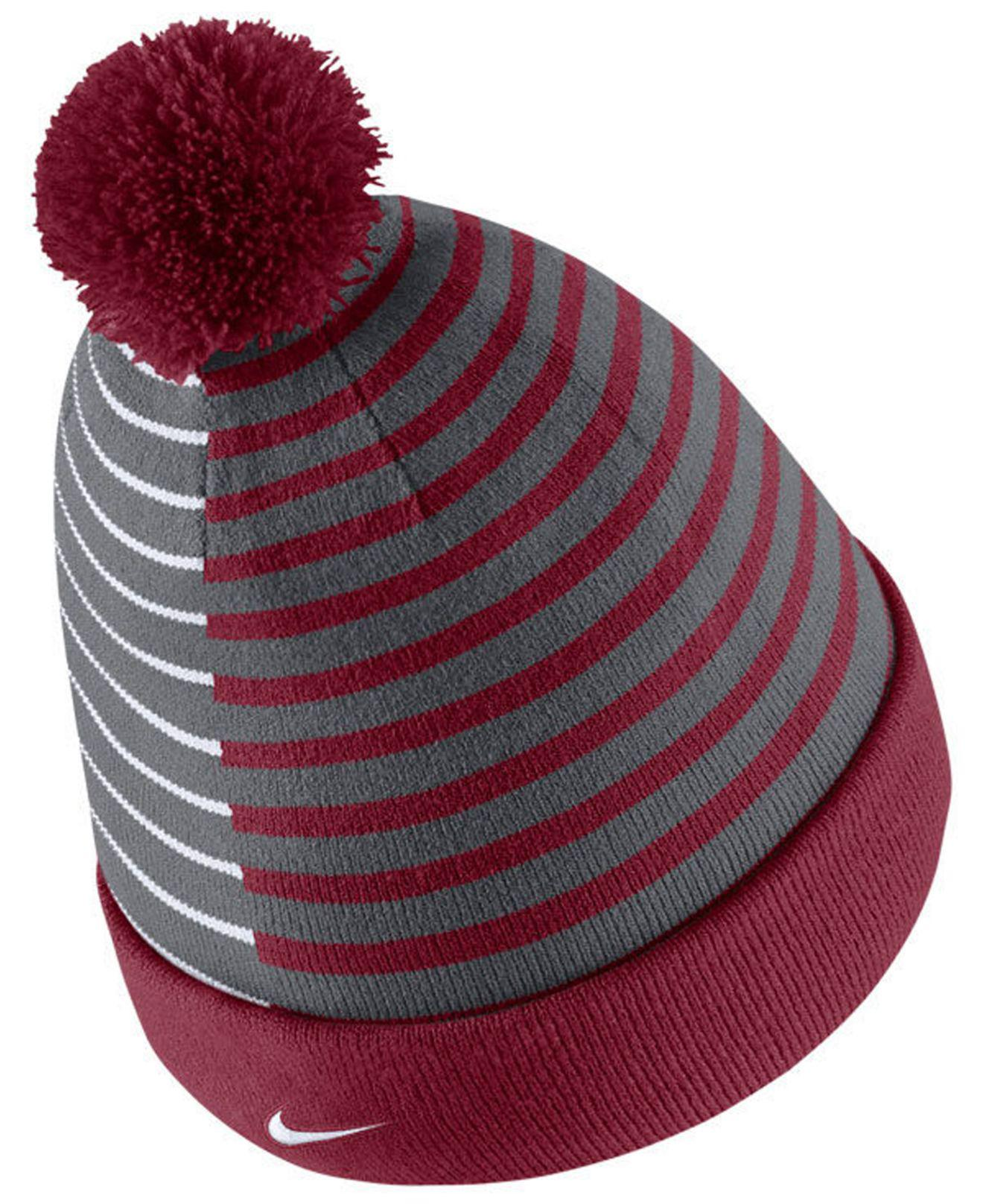 buy online 10288 8bf68 Lyst - Nike Oklahoma Sooners Striped Beanie Knit Hat in Red