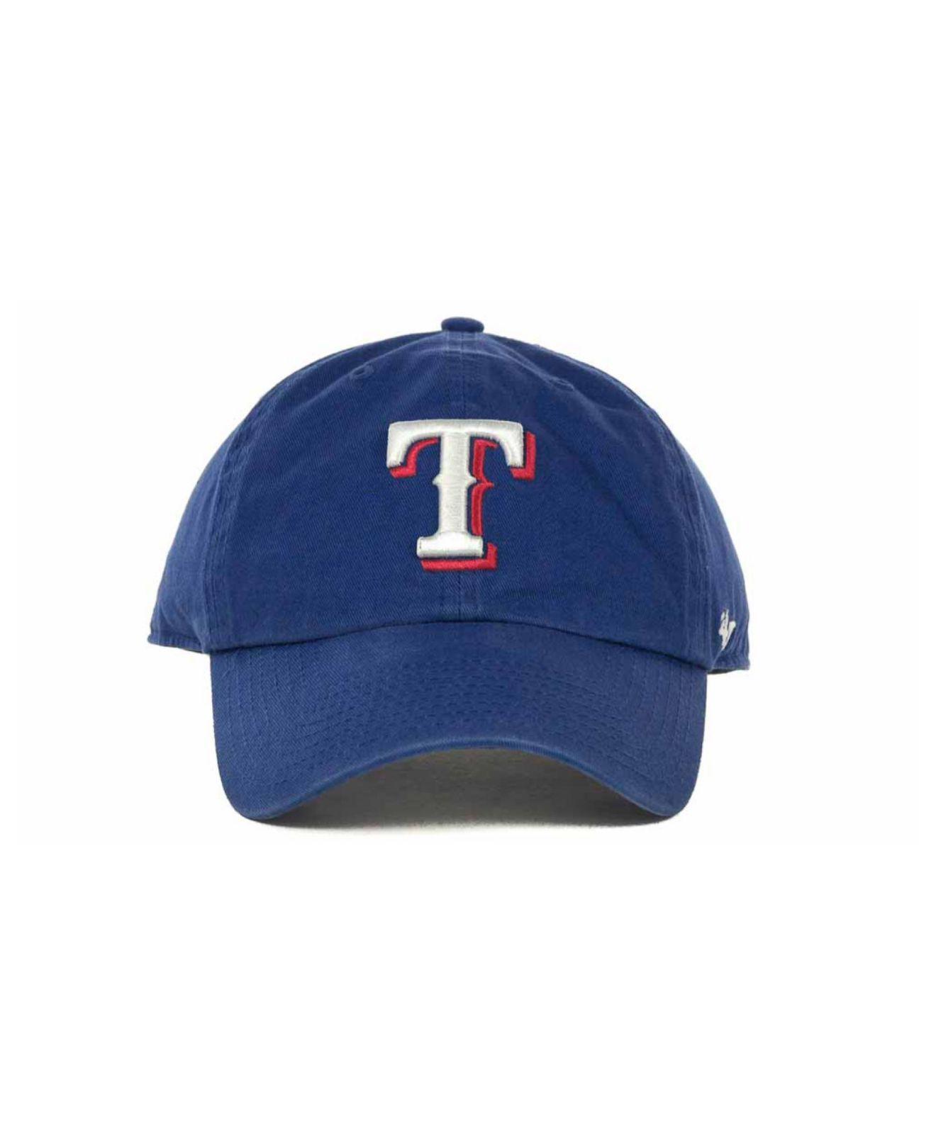 best loved 024e5 d65e9 Lyst - 47 Brand Texas Rangers Clean Up Hat in Blue for Men