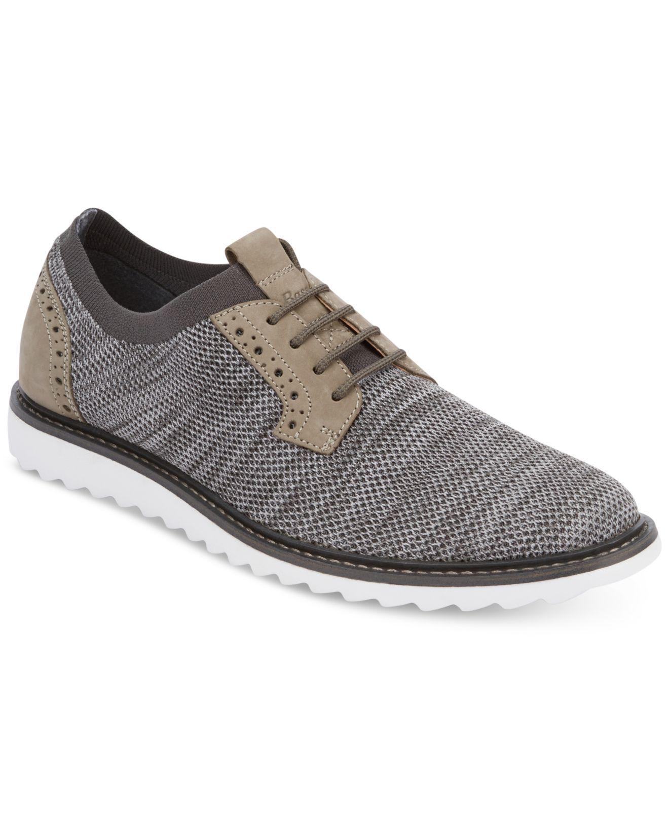 G.H. Bass & Co. Gray Men's Buck 2.0 Plain-toe Knit Oxfords