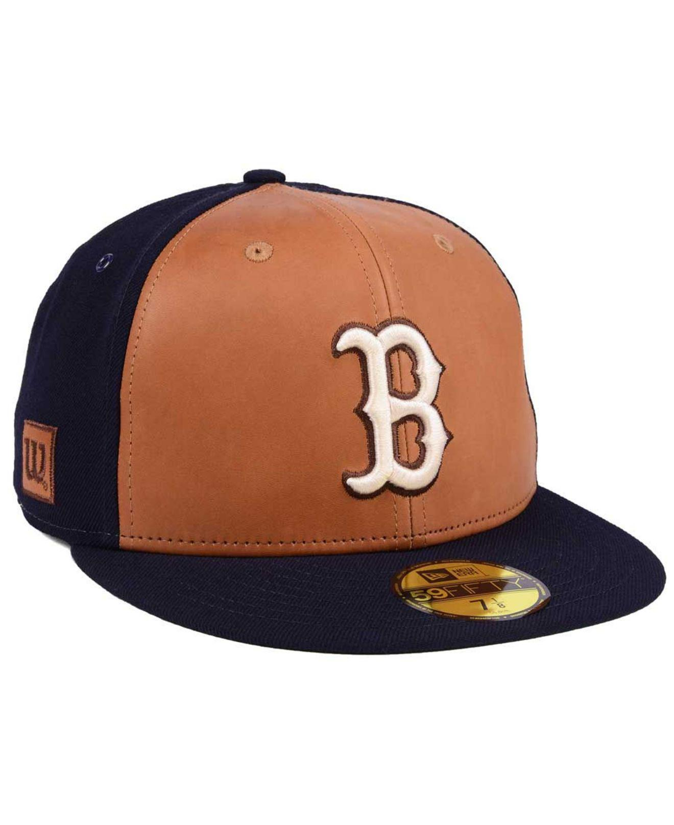 pretty nice 72676 1ca25 ... where to buy ktz. mens blue boston red sox x wilson leather front  59fifty fitted