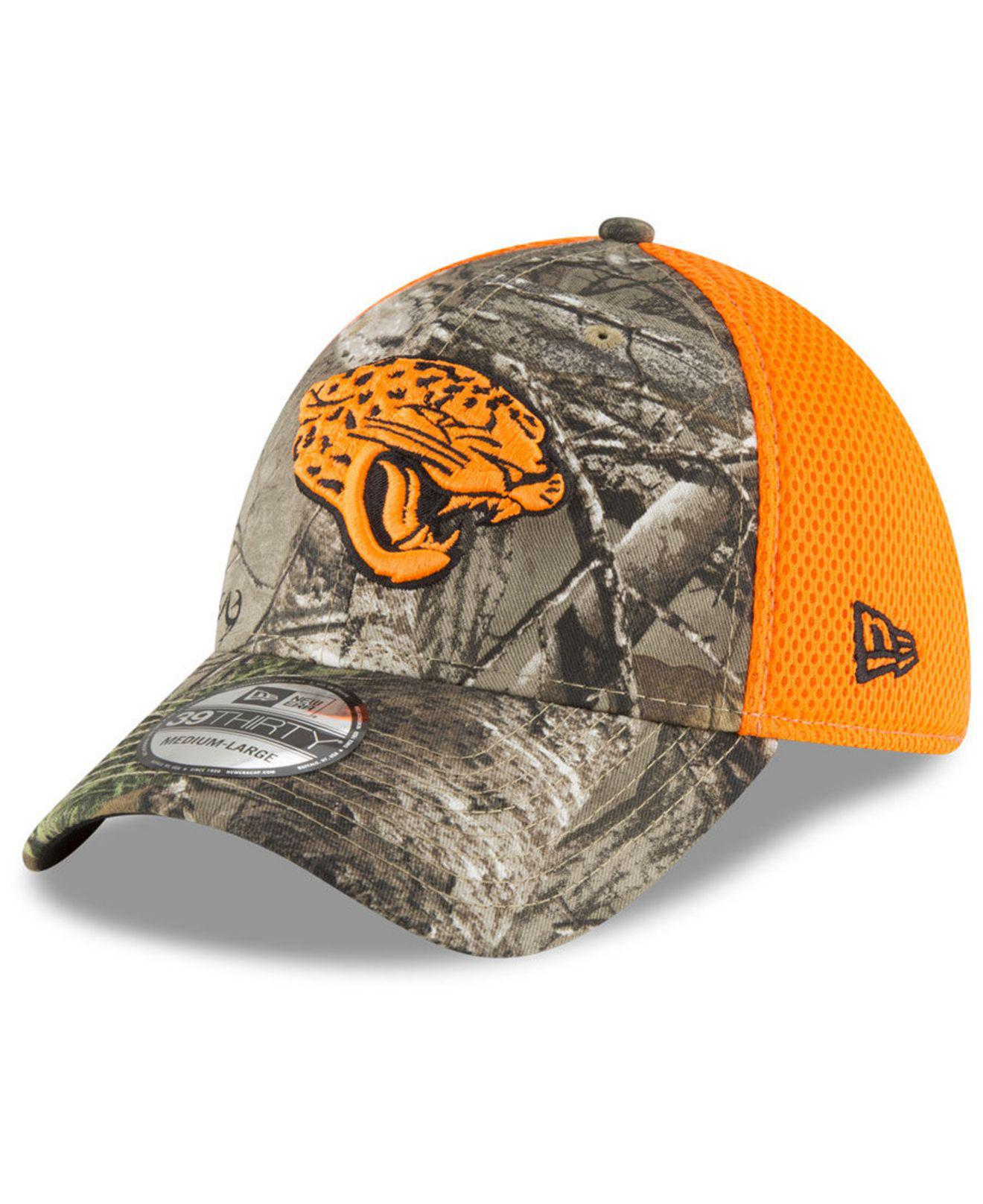 sports shoes dc564 a5aa9 KTZ. Men s Jacksonville Jaguars Realtree Hunter Neo 39thirty Stretch Fitted  Cap