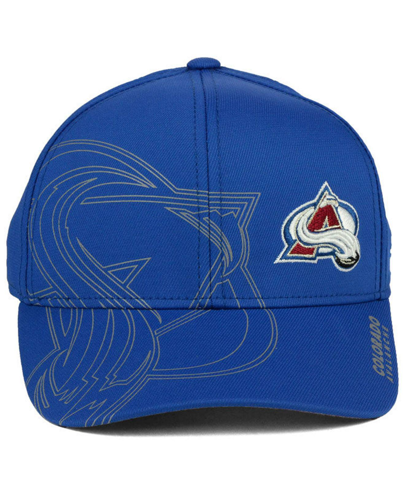 d51973cd ... discount lyst adidas colorado avalanche 2nd season flex cap in blue for  men 3cf53 b561a