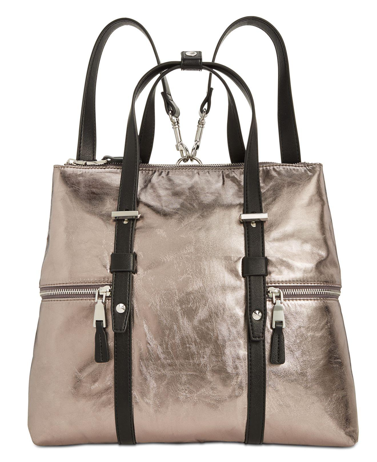 INC International Concepts. Women s Metallic I.n.c. Haili Nylon Convertible  Backpack ... d3ff7823affa1