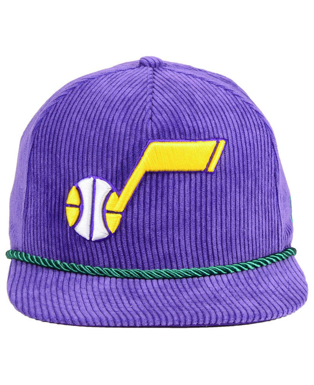 883cfeeb5 Lyst - KTZ Utah Jazz Hardwood Classic Nights Cords 9fifty Snapback Cap in  Purple for Men