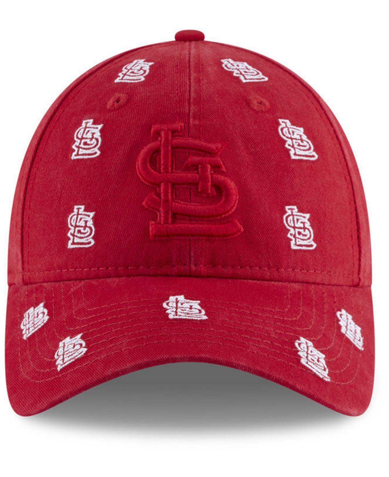huge selection of 4eecb 7db3d KTZ St. Louis Cardinals Logo Scatter Adjustable 9twenty Cap in Red - Lyst