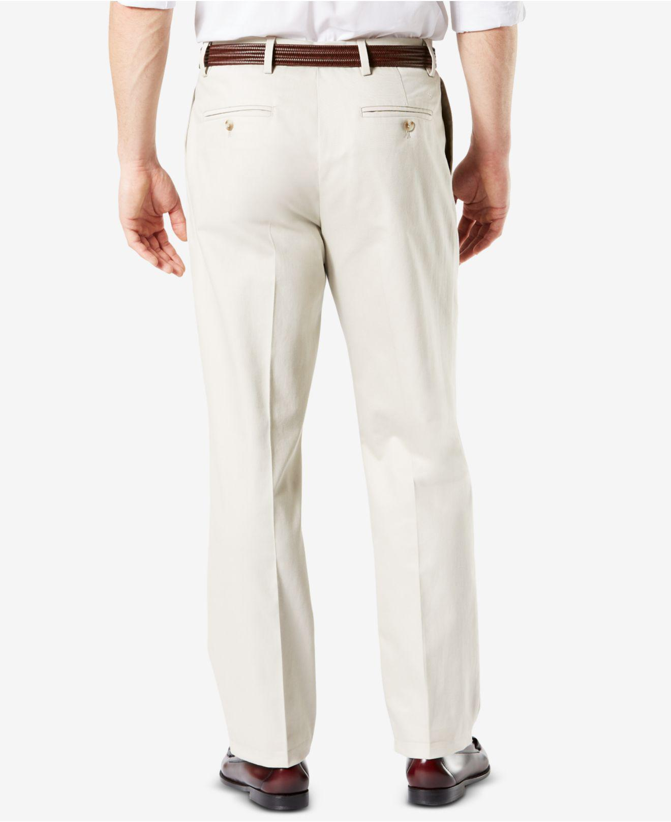 3bb4f4690d6 Lyst - Dockers Signature Lux Cotton Classic-fit Pleated Performance Stretch  Pants for Men