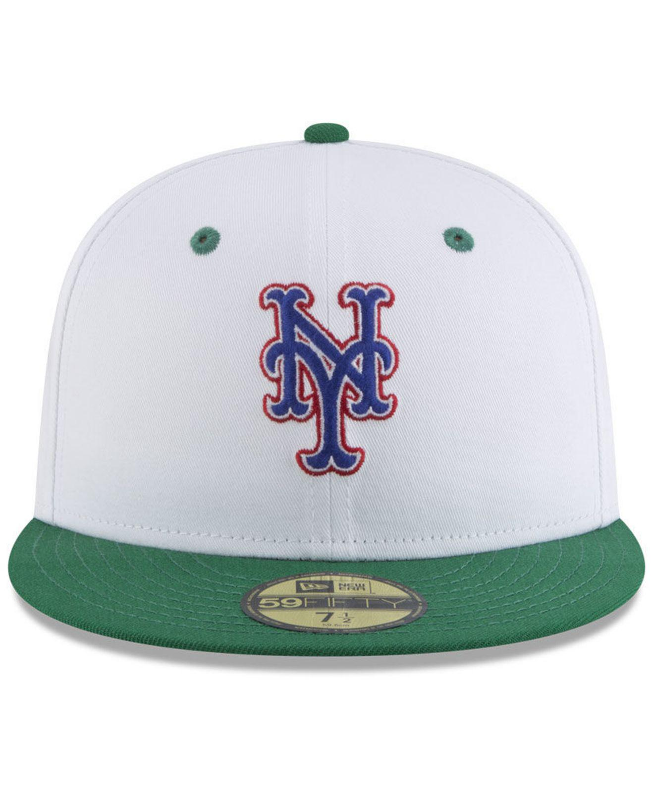 a9a8139b spain lyst ktz new york mets retro diamond 59fifty fitted cap for men 3ae71  39415