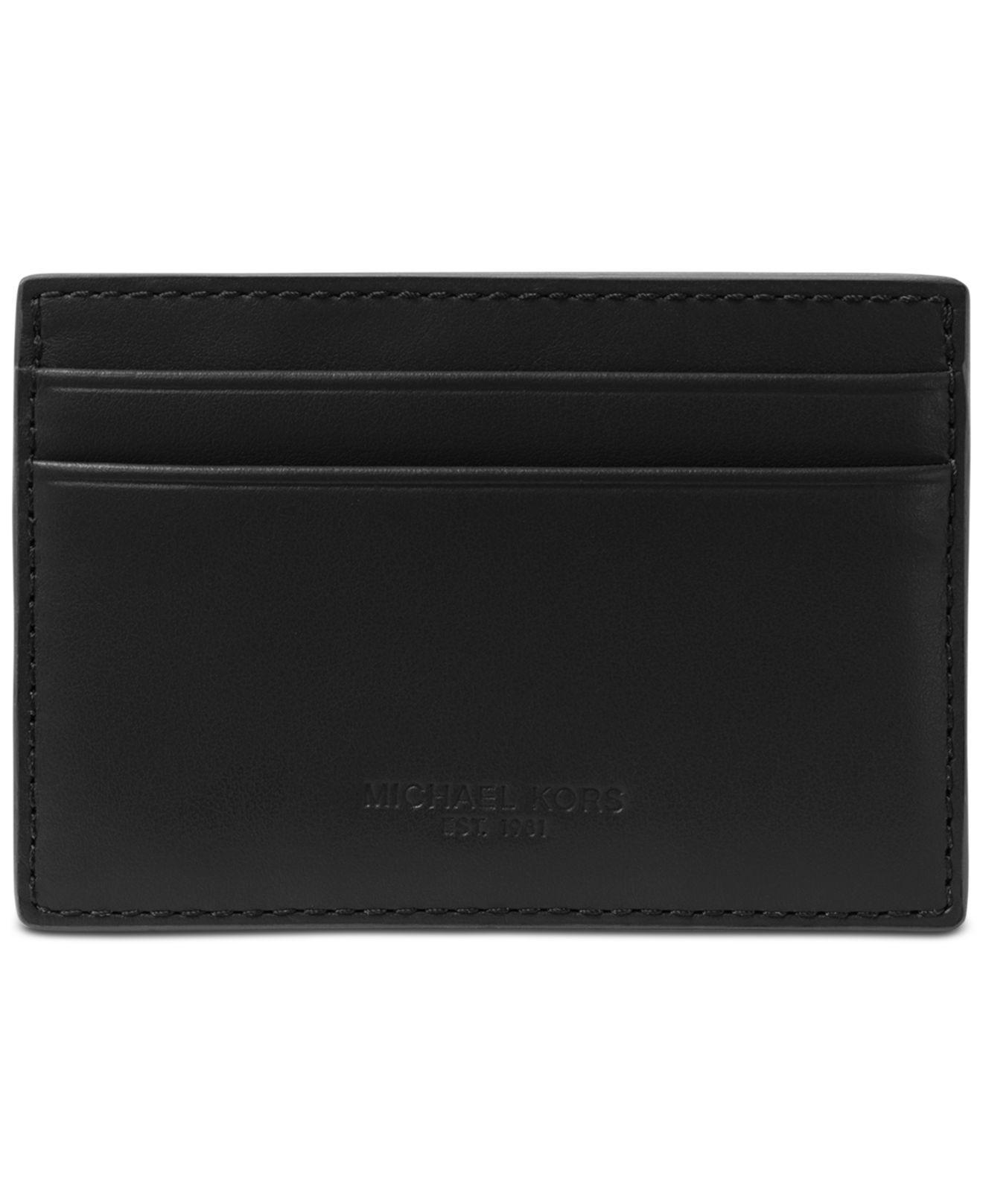 70d678eeb887e Michael Kors Odin London Leather Card Case in Black for Men - Lyst