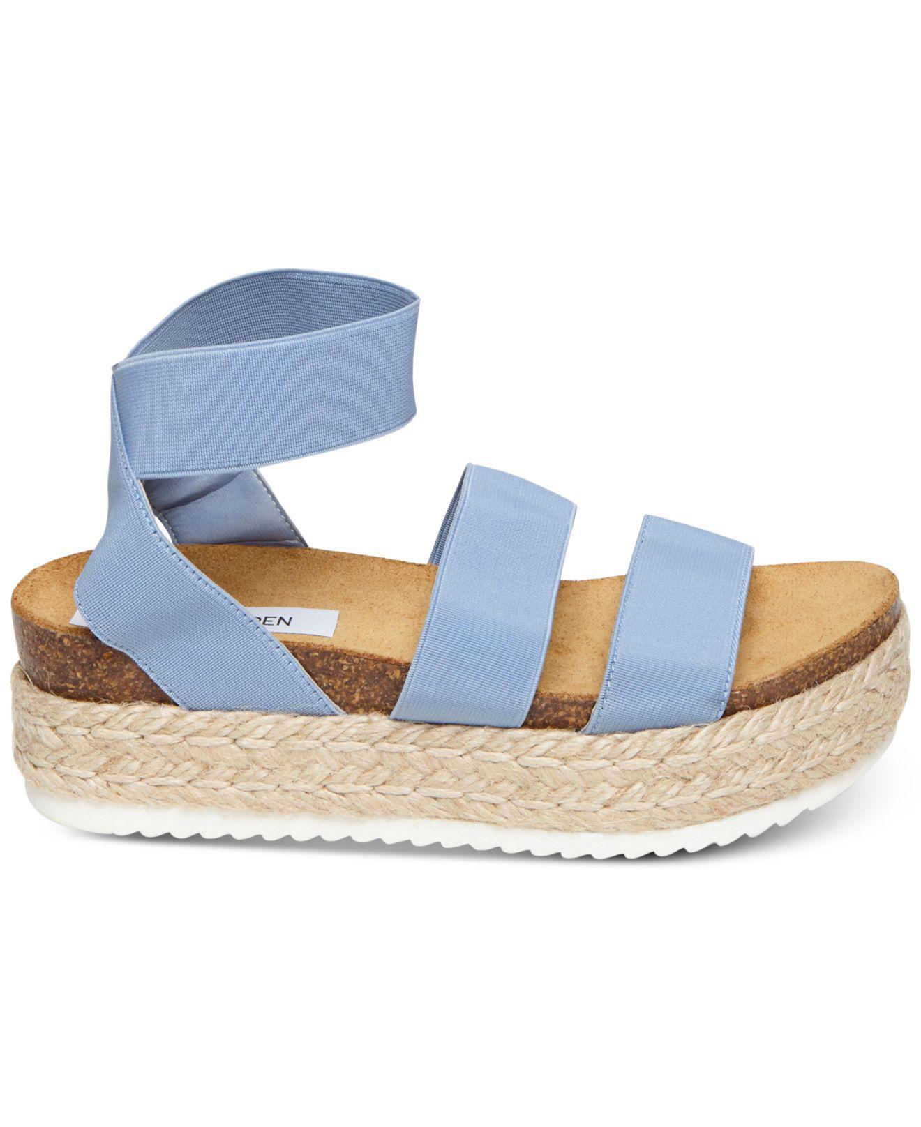 9cc8ca9483b2a5 Lyst - Steve Madden Kimmie Espadrille Sandal (black) Women s Shoes in Blue