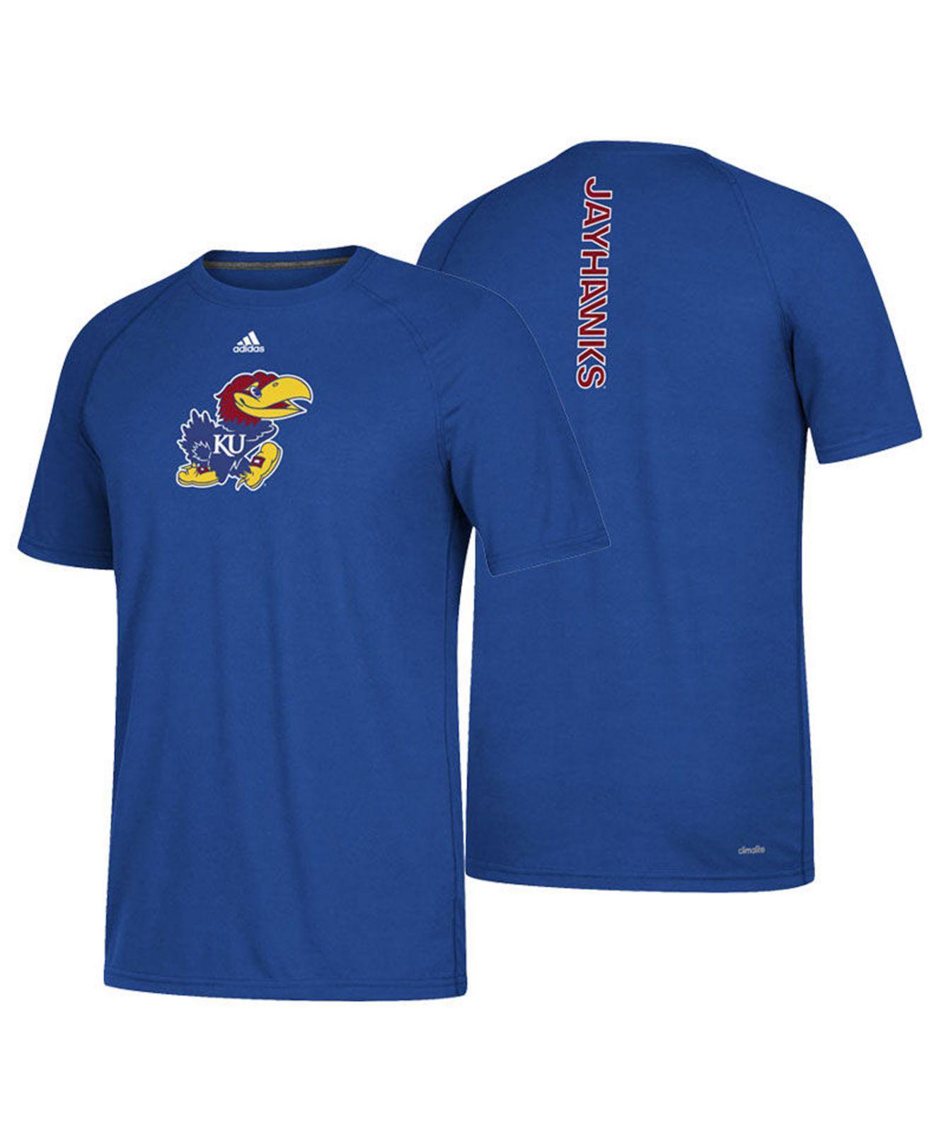 innovative design 226d6 2a1a9 adidas. Men s Blue Kansas Jayhawks Sideline Sequel T-shirt