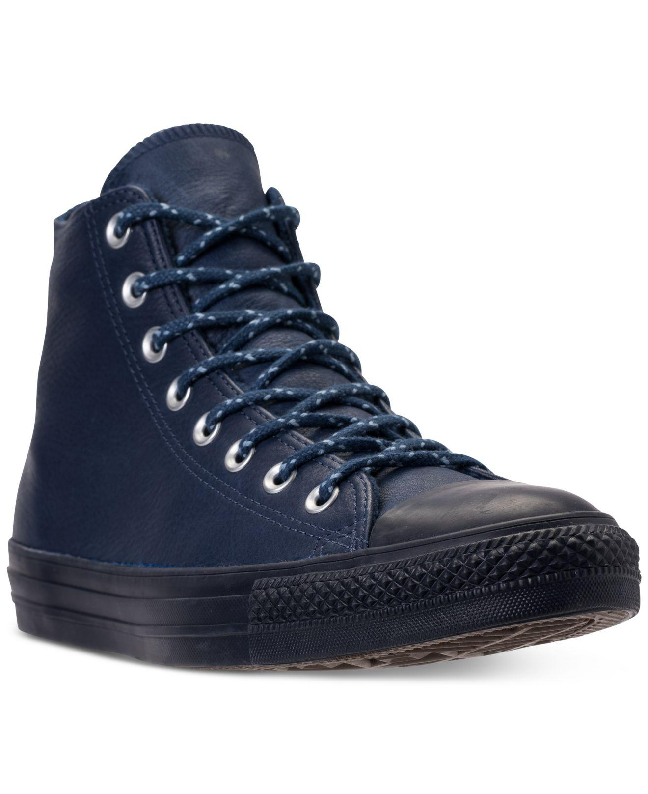 420bb0f4ebdd Lyst - Converse Chuck Taylor All Star Leather High Top Casual ...
