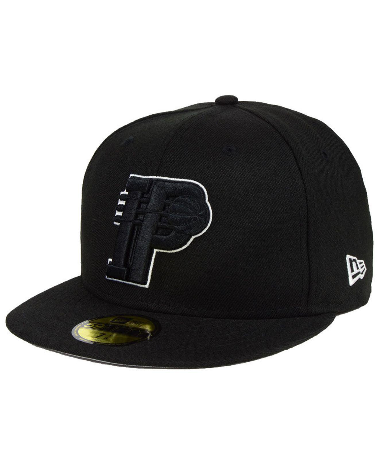 new style 84068 e2bbb KTZ. Men s Black Indiana Pacers Combo Logo 59fifty Fitted Cap