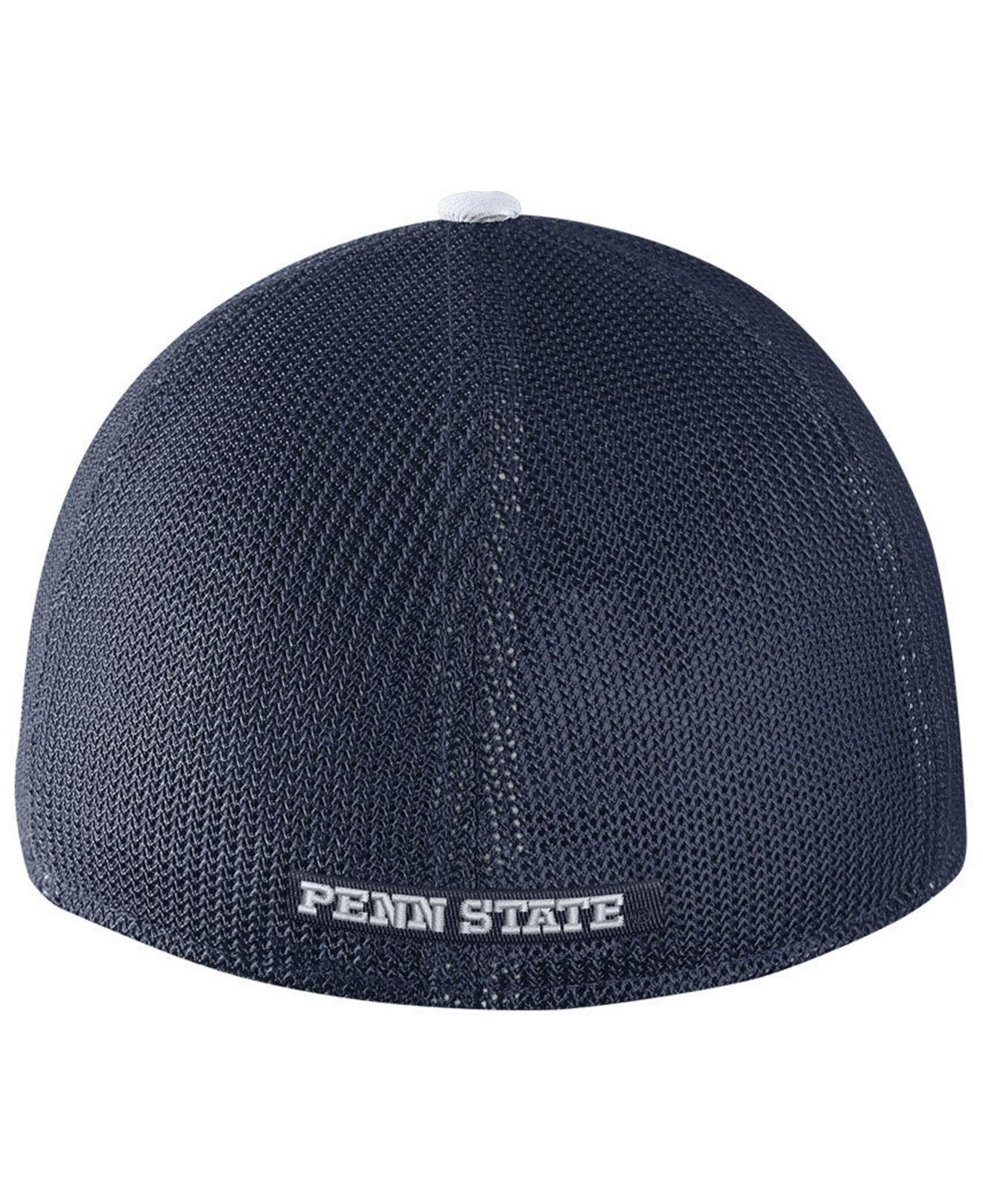 the latest e25de 8b04b ... promo code lyst nike penn state nittany lions col aro swooshflex  stretch fitted cap in blue