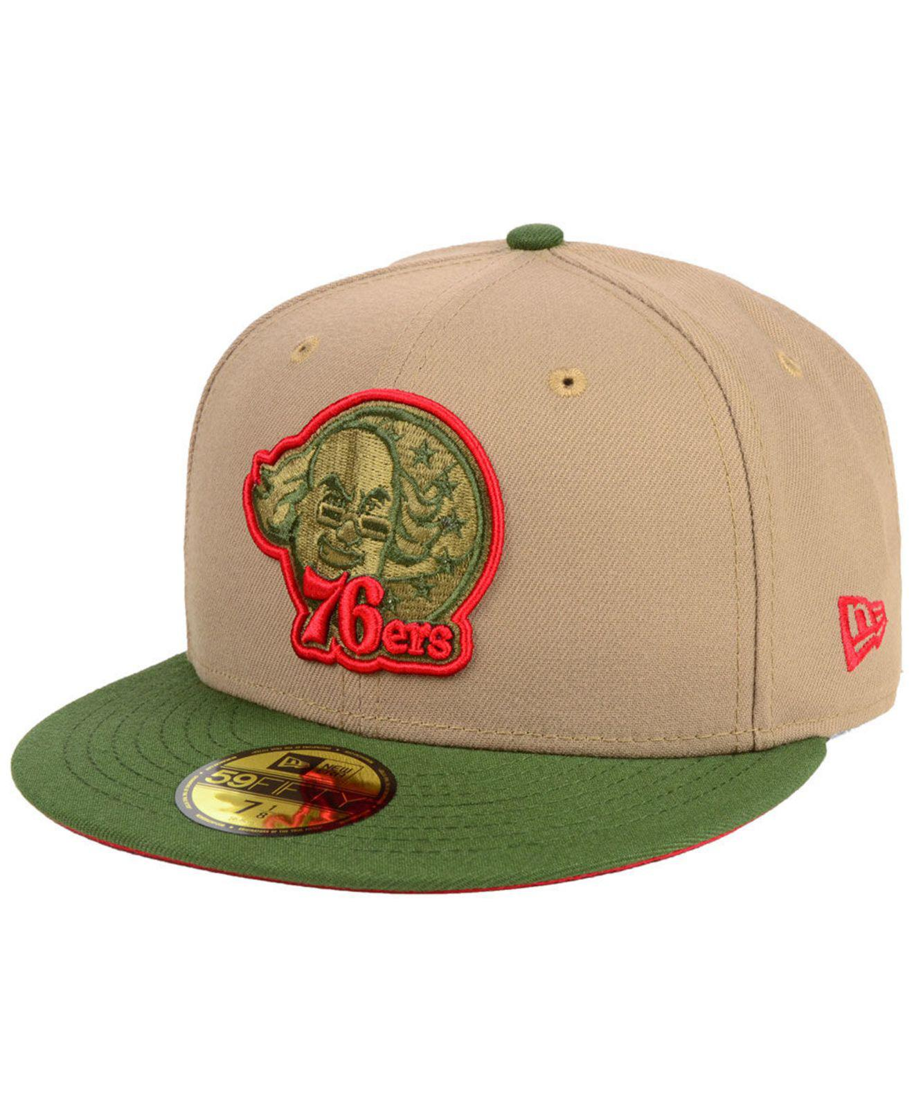 outlet store 8a3aa 814e9 KTZ. Men s Green Philadelphia 76ers Fall 2 Tone Combo 59fifty-fitted Cap