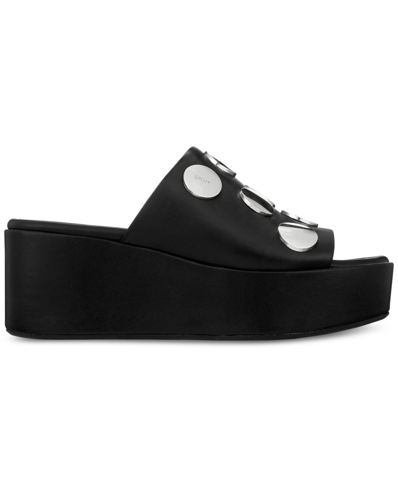 07d6b1d8a5 DKNY Catrina2 Wedge Sandals, Created For Macy's in Black - Lyst
