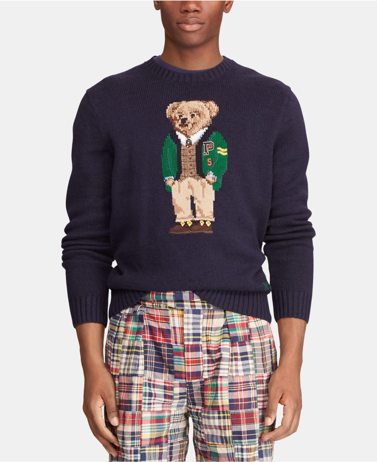 3f9e1c15123 Lyst - Polo Ralph Lauren Polo Bear Sweater in Blue for Men