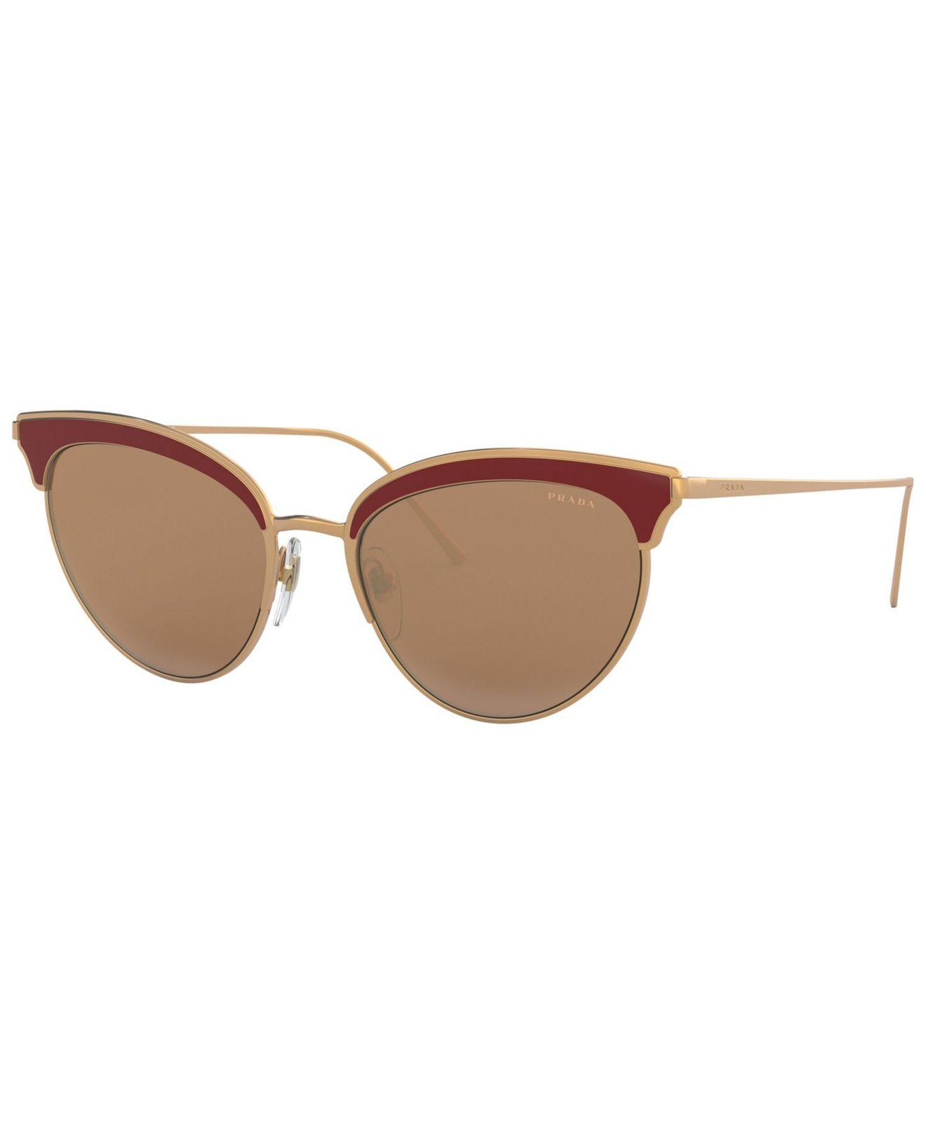 2bcb7b2a698e Prada - Brown Sunglasses - Lyst. View fullscreen