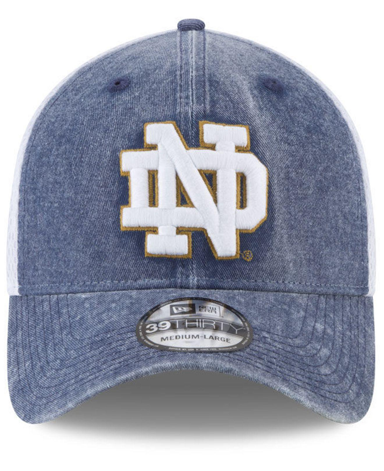 31cfd3298de ... college classic 39thirty flex hat 852e5 9ef8f  hot lyst ktz notre dame  fighting irish washed neo 39thirty cap in blue for men e4d1d