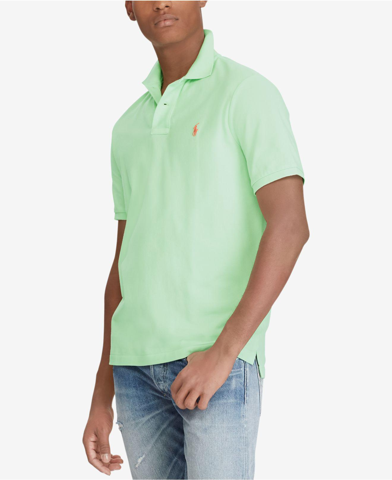 Slim Fit Pique Polo in Lime Green - Cruise lime Polo Ralph Lauren Footlocker Pictures Online Amazing Price Sale Online Free Shipping Best Sale WicAZ5BgrI