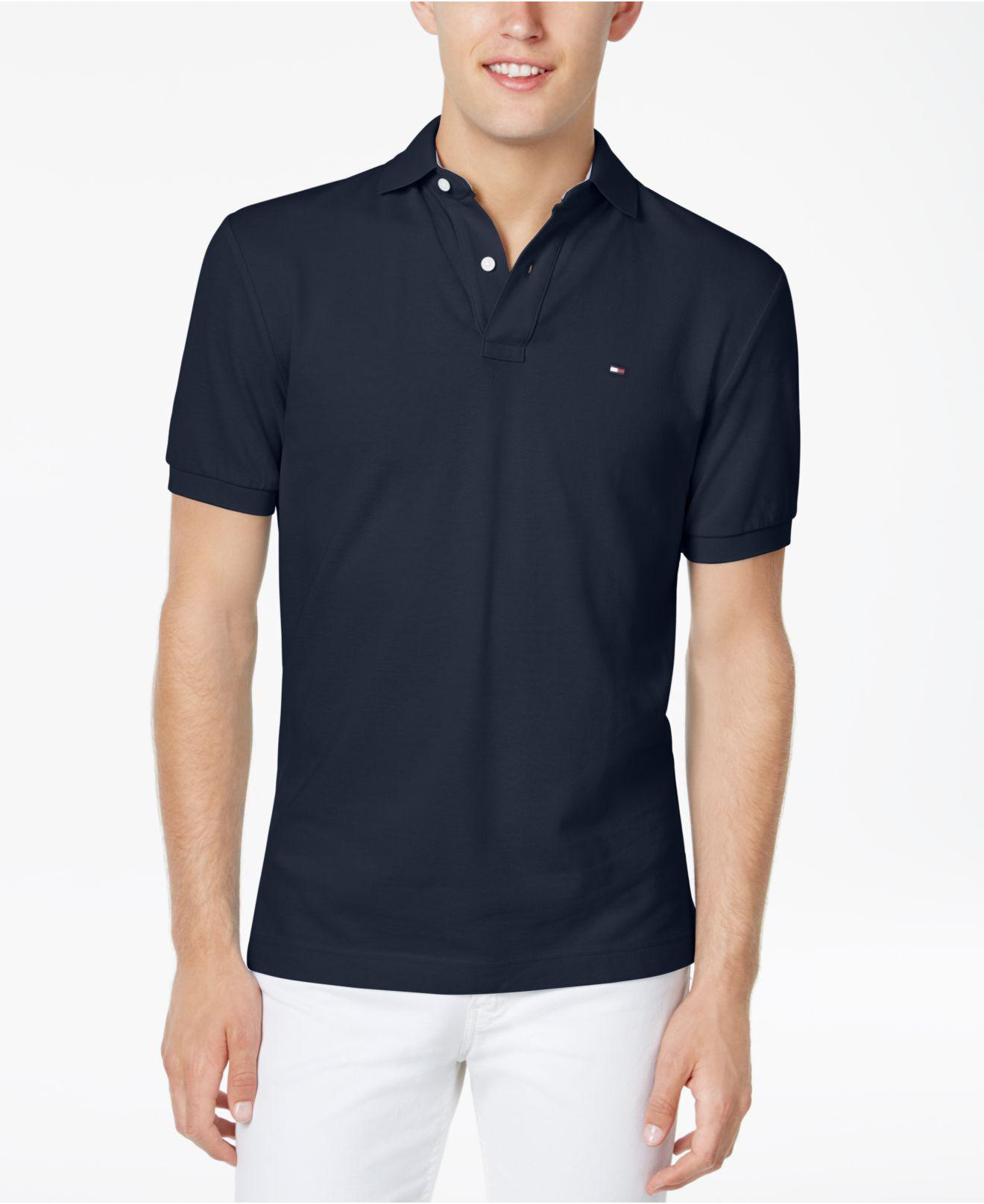 23988c9e1 Lyst - Tommy Hilfiger Big And Tall Solid Ivy Polo in Blue for Men ...
