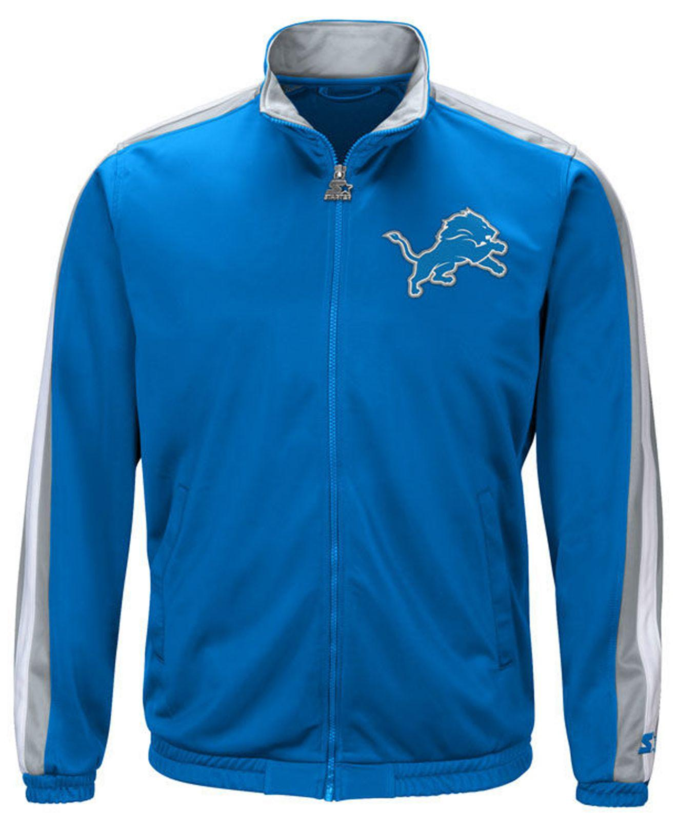 Lyst - Starter Detroit Lions The Challenger Track Jacket in Blue for Men 90222e4f2