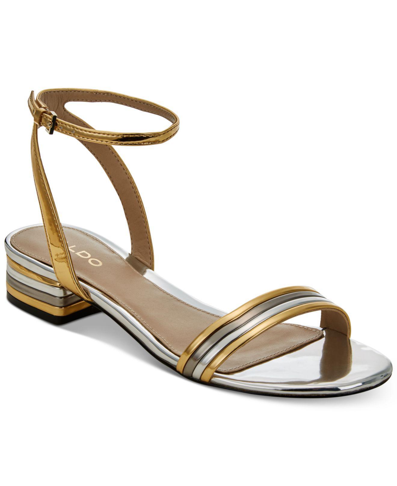8e77c2f8079 Lyst - ALDO Izzie Metallic Sandals in Metallic