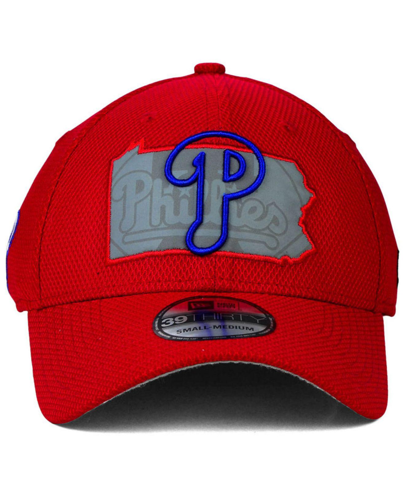 Lyst - Ktz Philadelphia Phillies State Flective 39thirty Cap in Red for Men c4d74e0a2d26