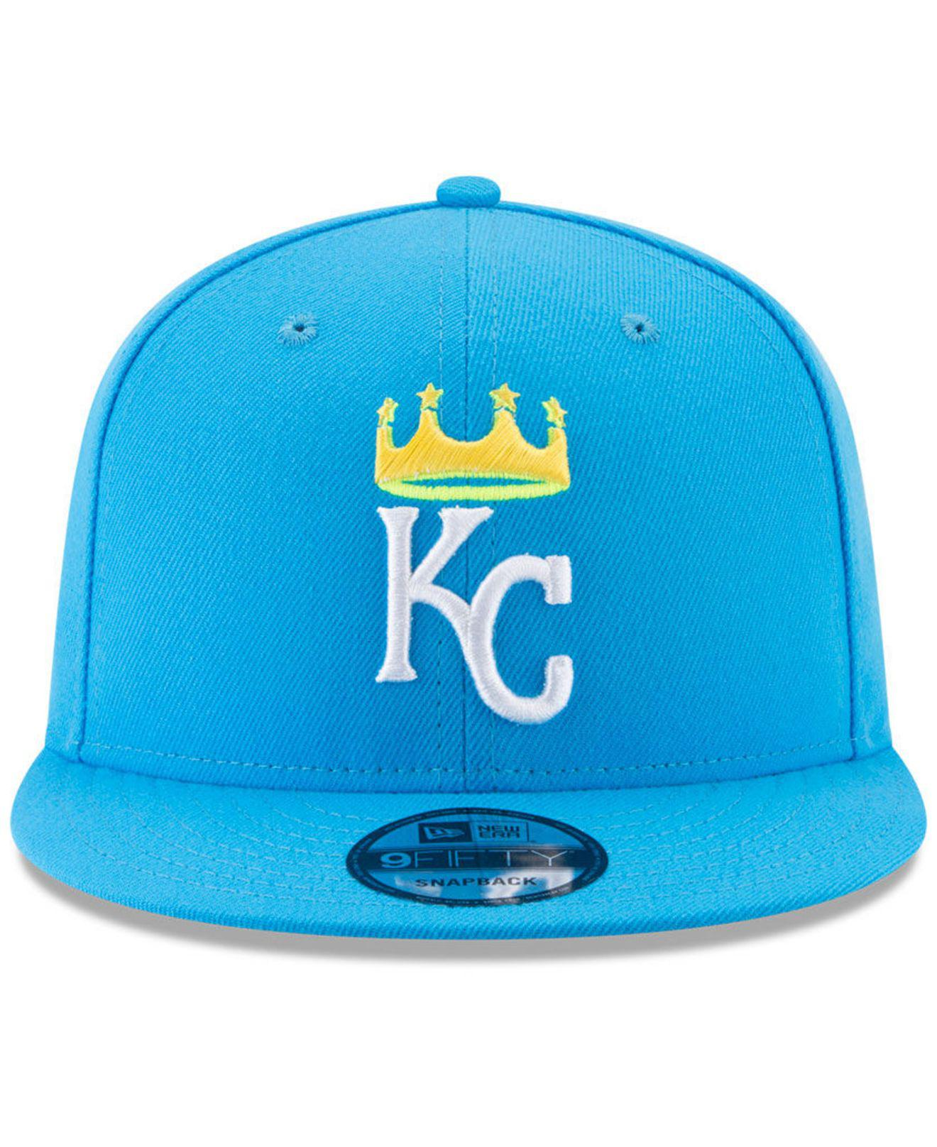 more photos a03af e4027 ... spain lyst ktz kansas city royals players weekend 9fifty snapback cap  in blue for men save